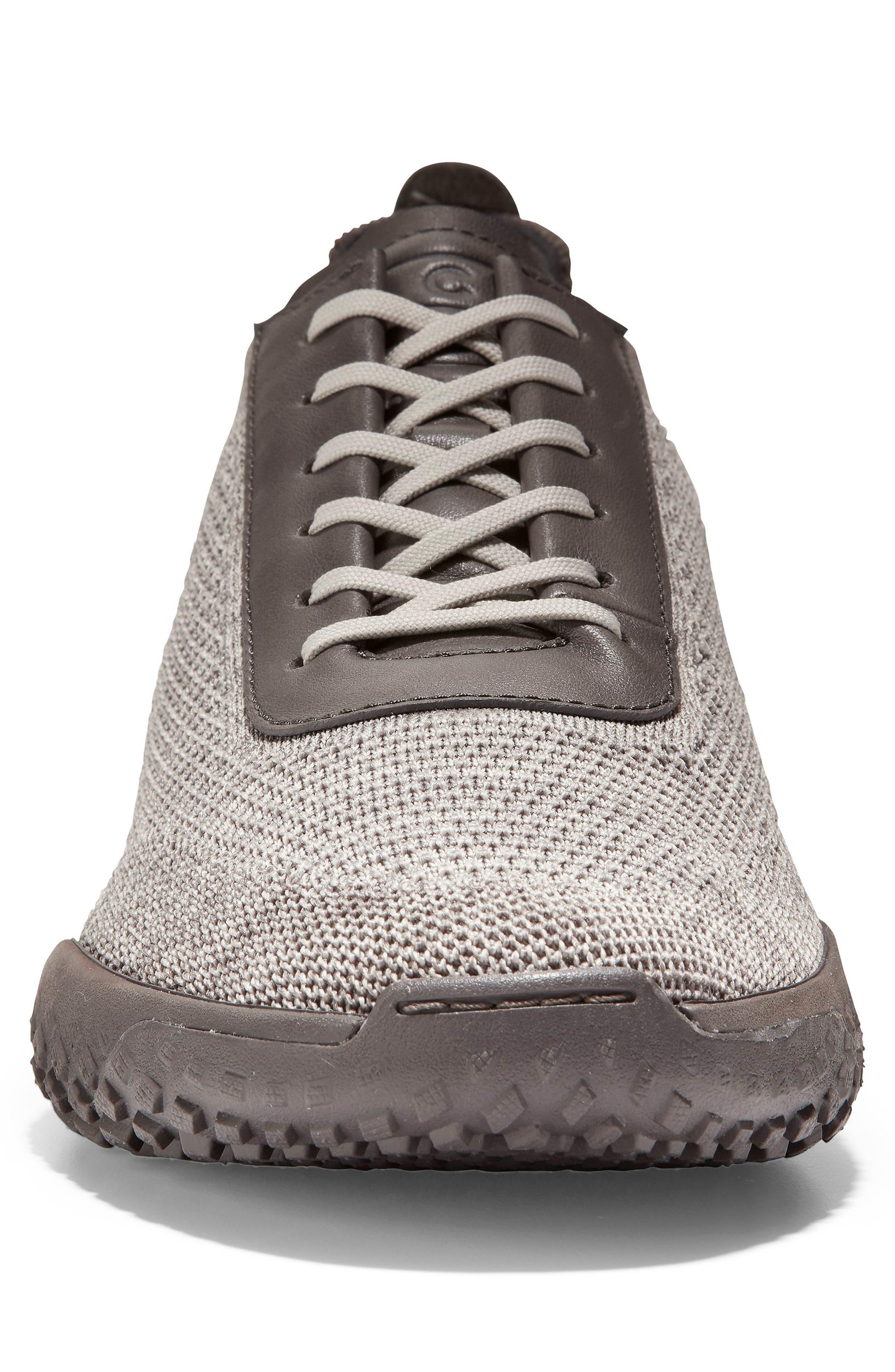 GrandPro Trail Low Stitchlite Sneaker,                             Alternate thumbnail 4, color,                             BLACK/ VAPOR GREY KNIT