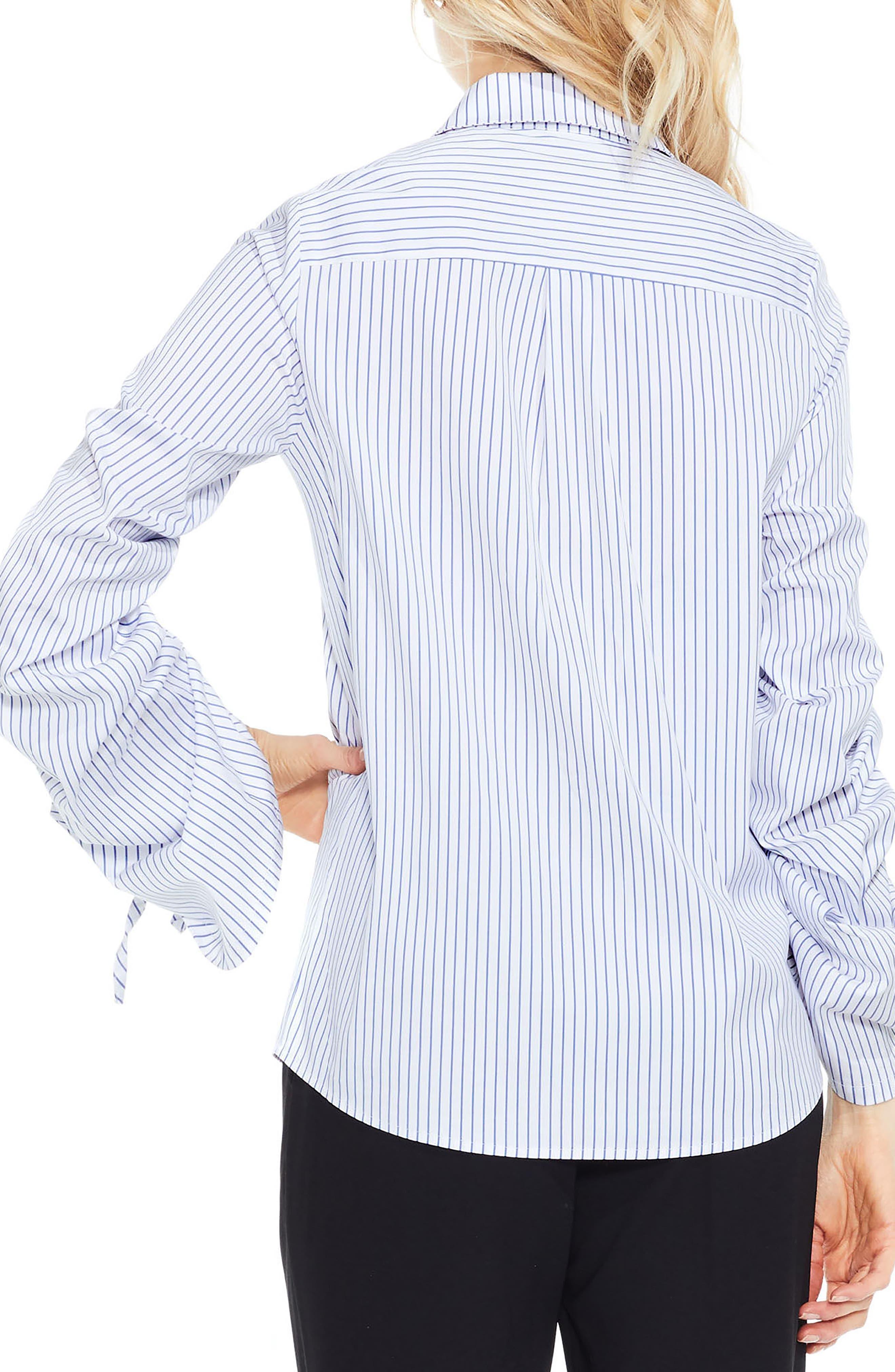 Simple Stripe Shirt,                             Alternate thumbnail 2, color,                             145