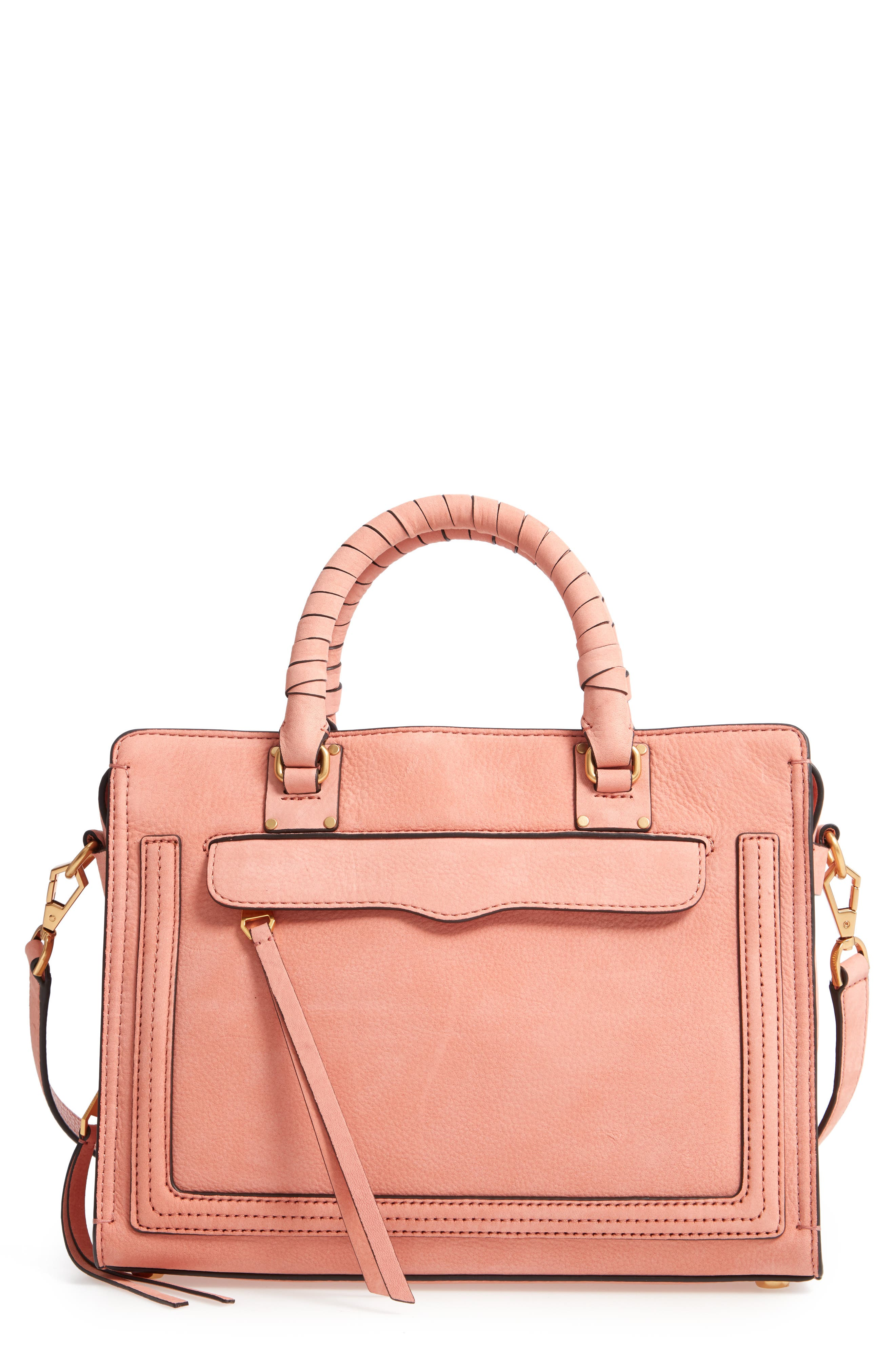 Medium Bree Leather Satchel,                             Main thumbnail 1, color,                             650