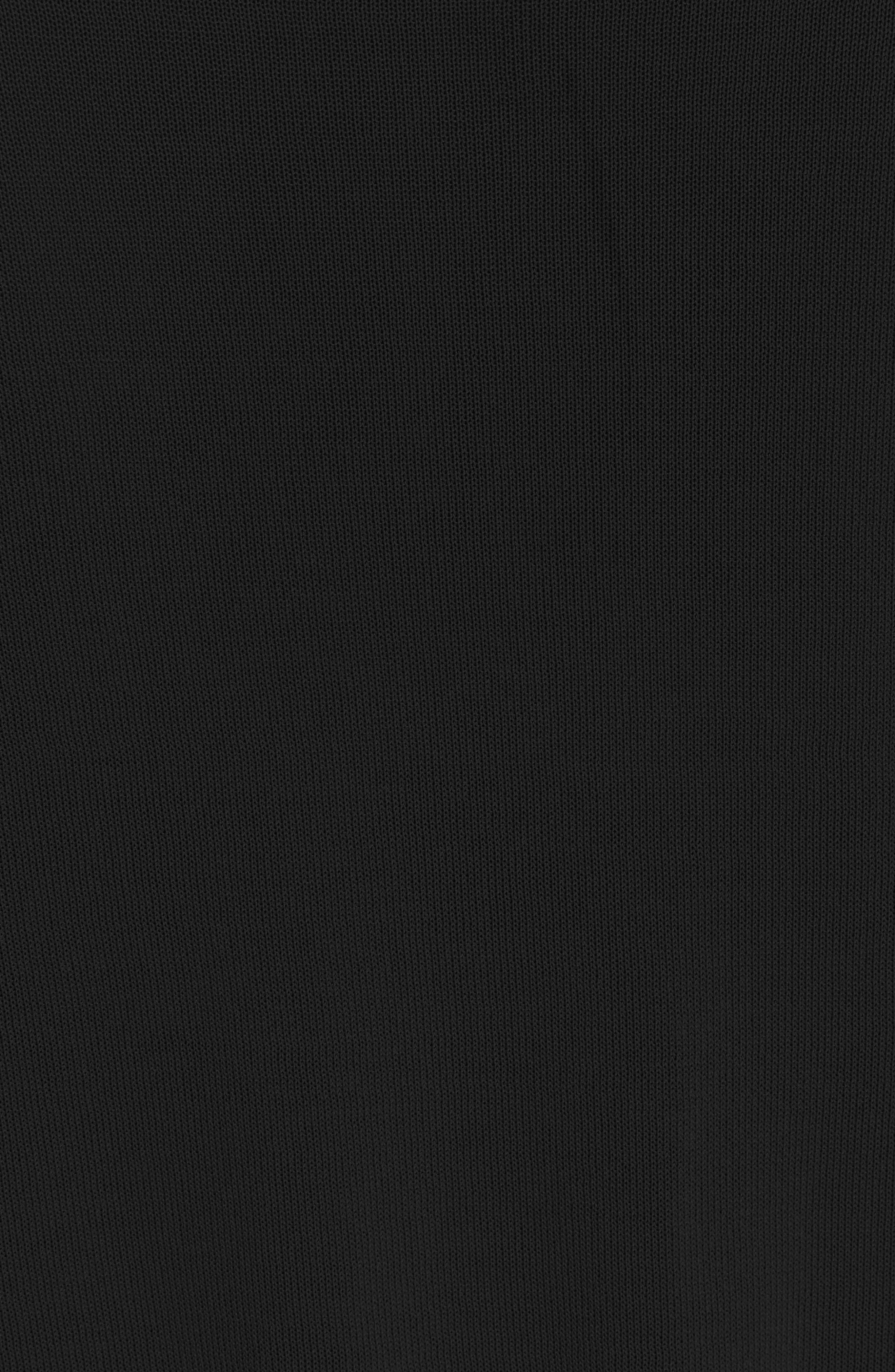 Tricot Knit Top,                             Alternate thumbnail 5, color,                             BLACK