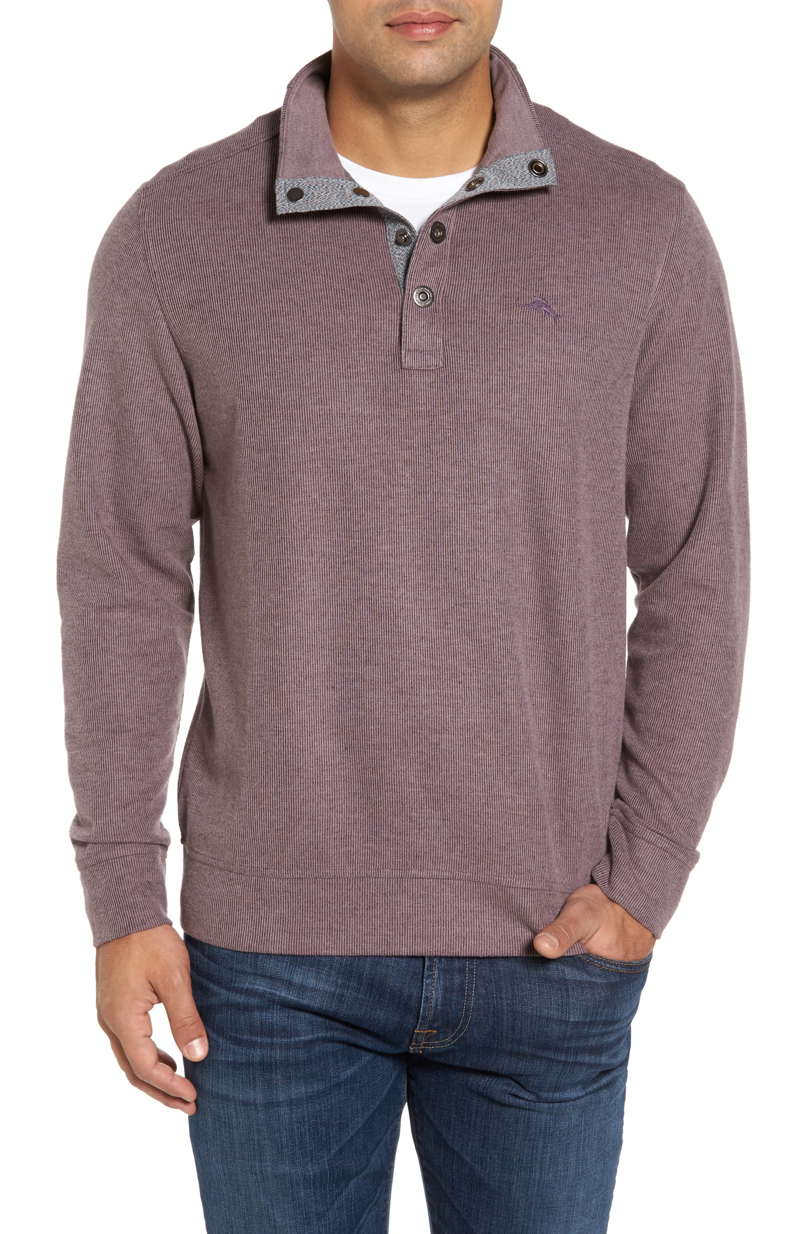 Cold Springs Snap Mock Neck Sweater,                             Main thumbnail 6, color,