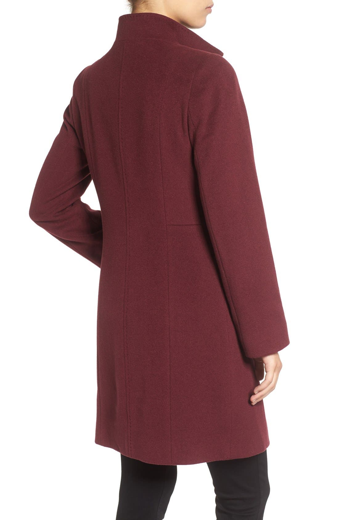 Cinzia Rocca Stand Collar Walking Coat,                             Alternate thumbnail 5, color,
