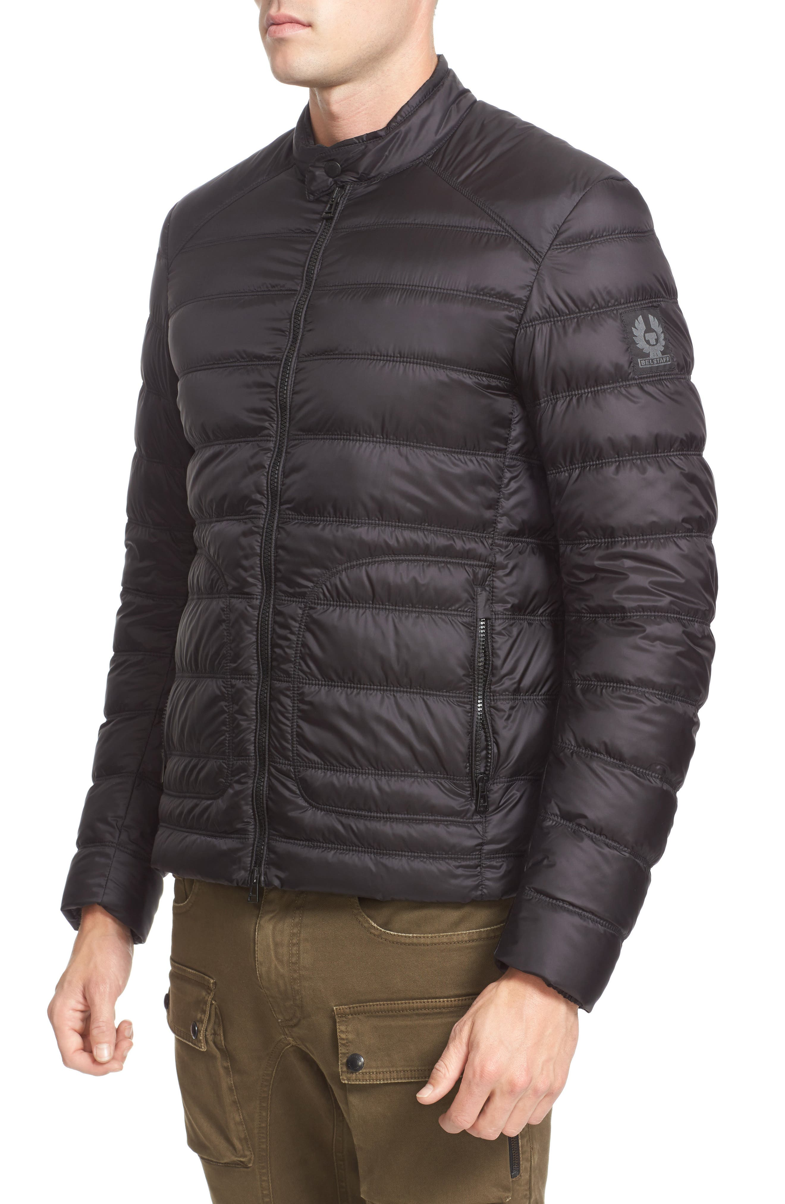 Halewood Quilted Down Jacket,                             Alternate thumbnail 4, color,                             001