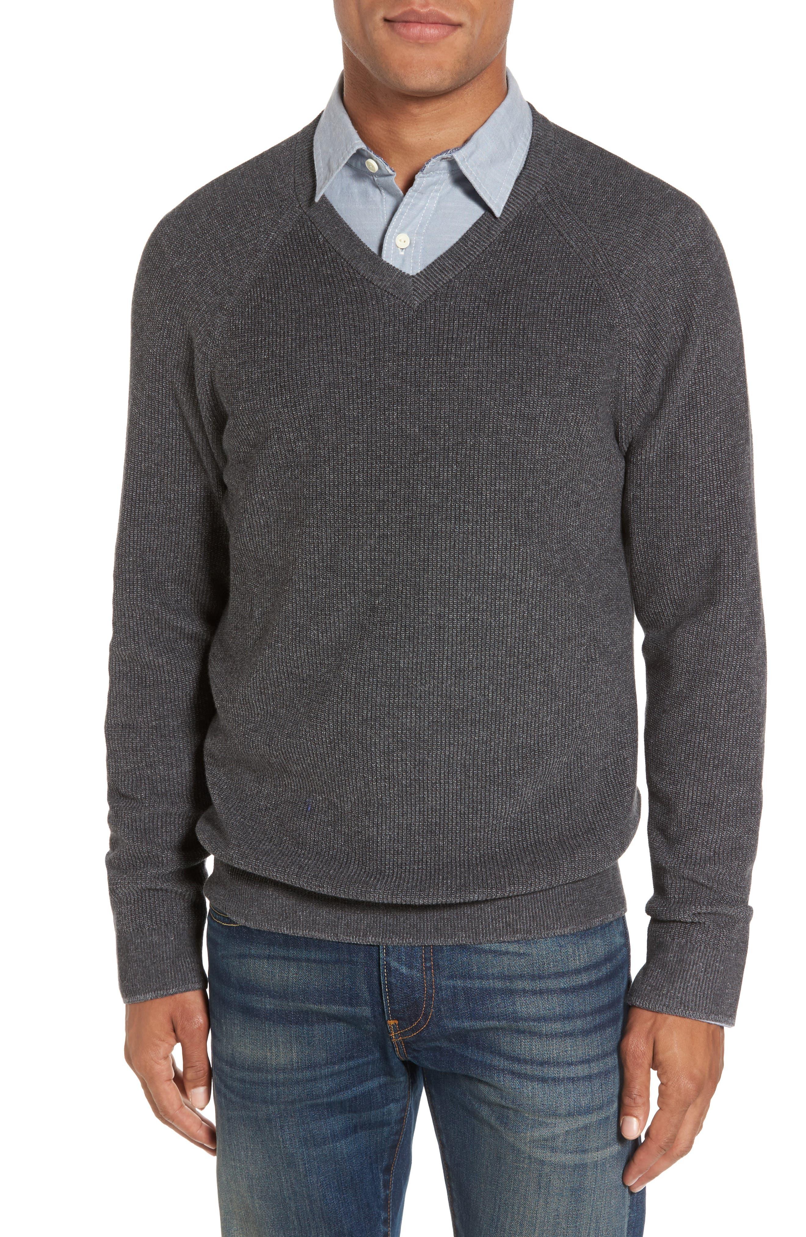 Supima<sup>®</sup> Cotton V-Neck Sweater,                         Main,                         color, 021