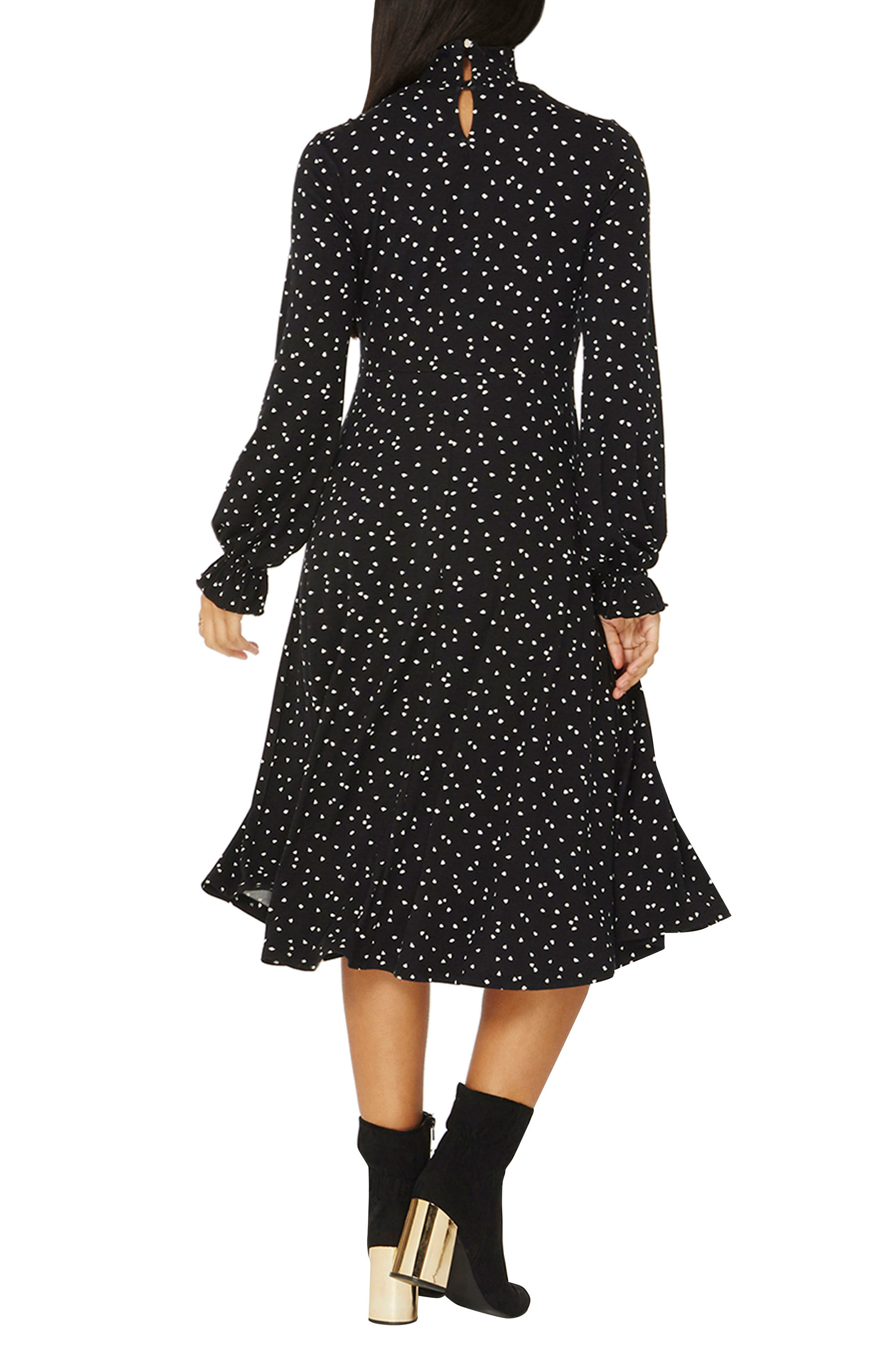 Heart Midi Dress,                             Alternate thumbnail 2, color,