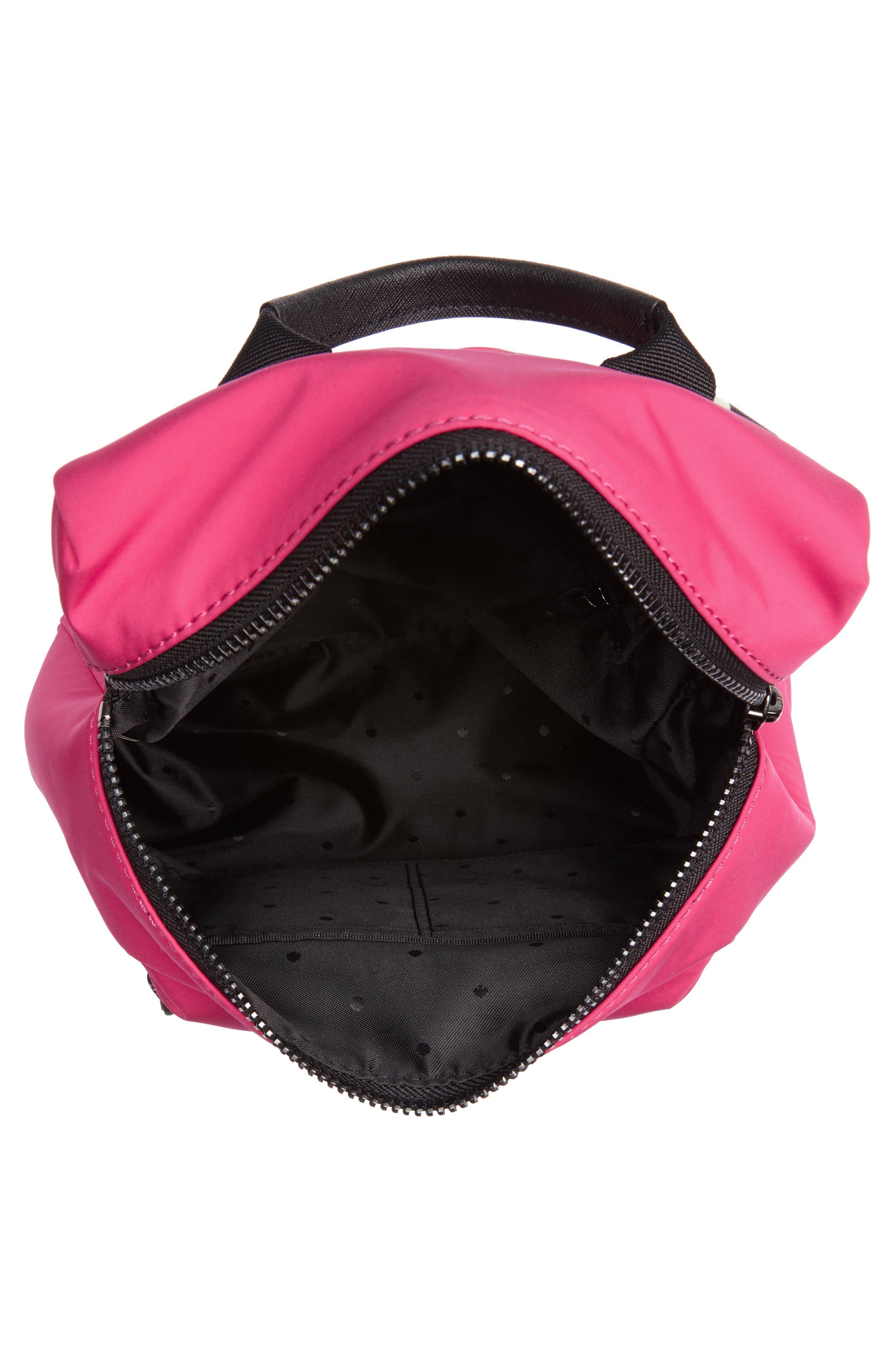 that's the spirit mini nylon convertible backpack,                             Alternate thumbnail 5, color,                             KINETIC PINK