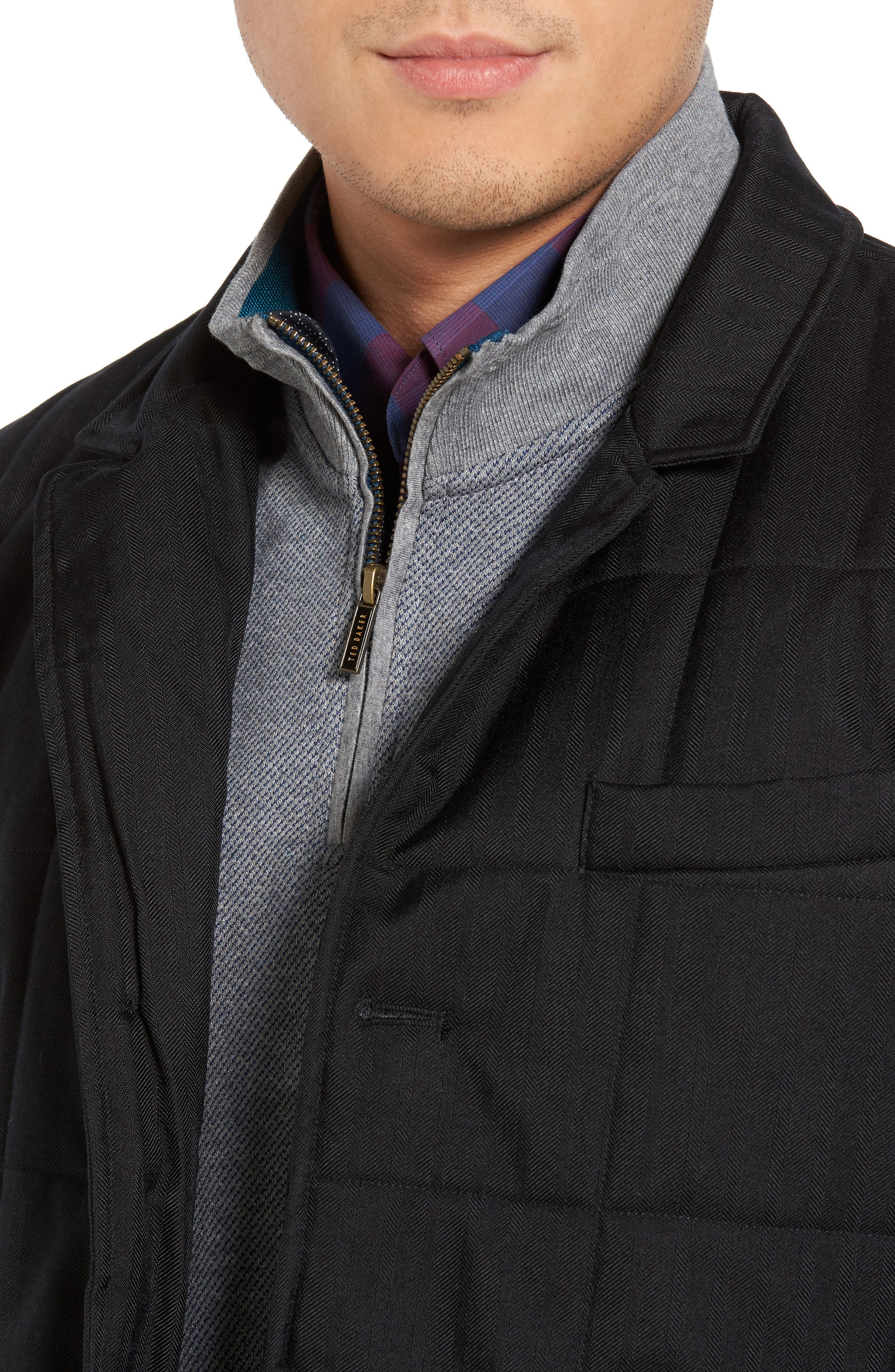 Jasper Trim Fit Quilted Jacket with Removable Bib,                             Alternate thumbnail 7, color,