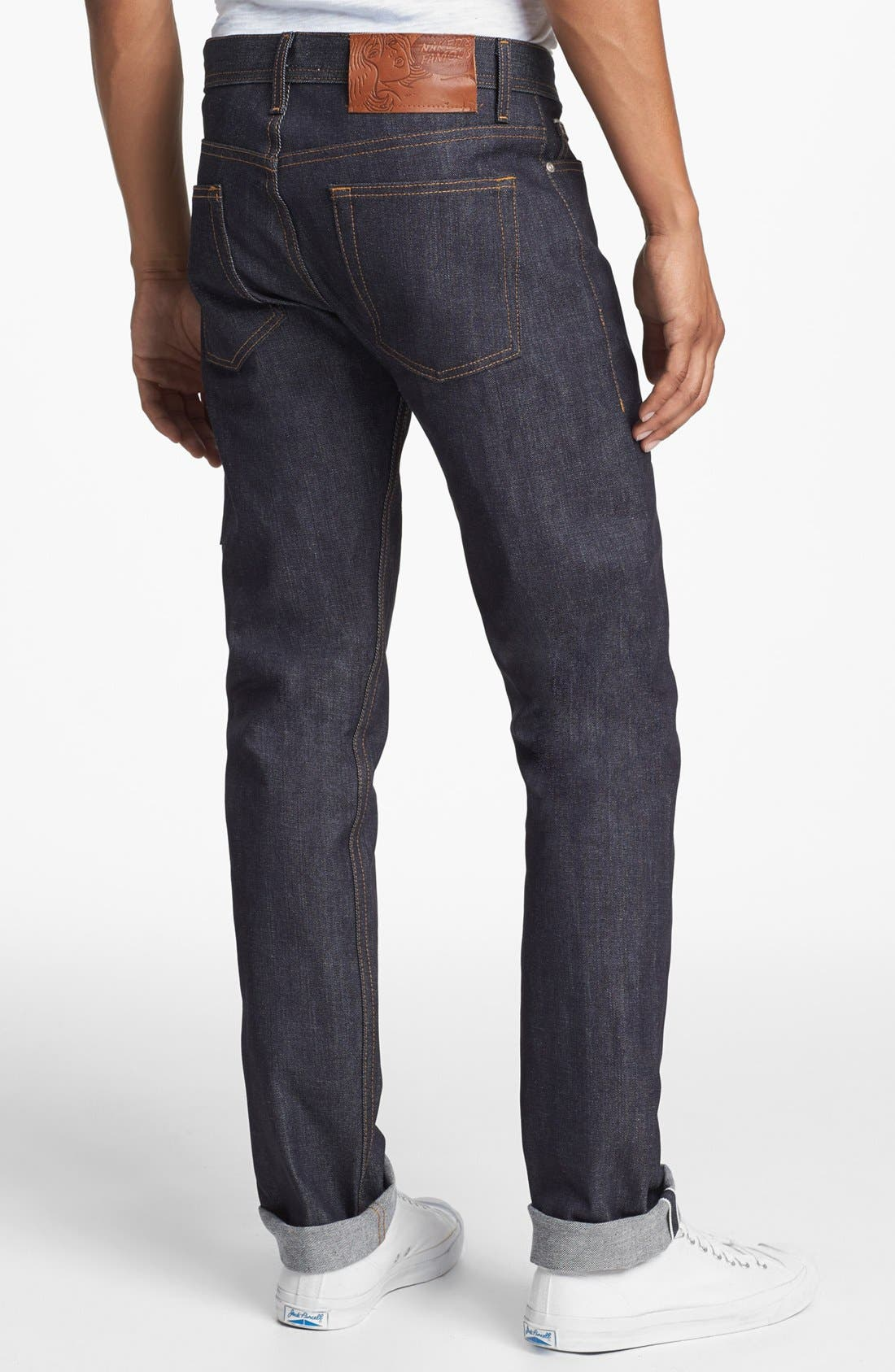 Weird Guy Slim Fit Jeans,                             Alternate thumbnail 7, color,                             LEFT HAND TWILL SELVEDGE
