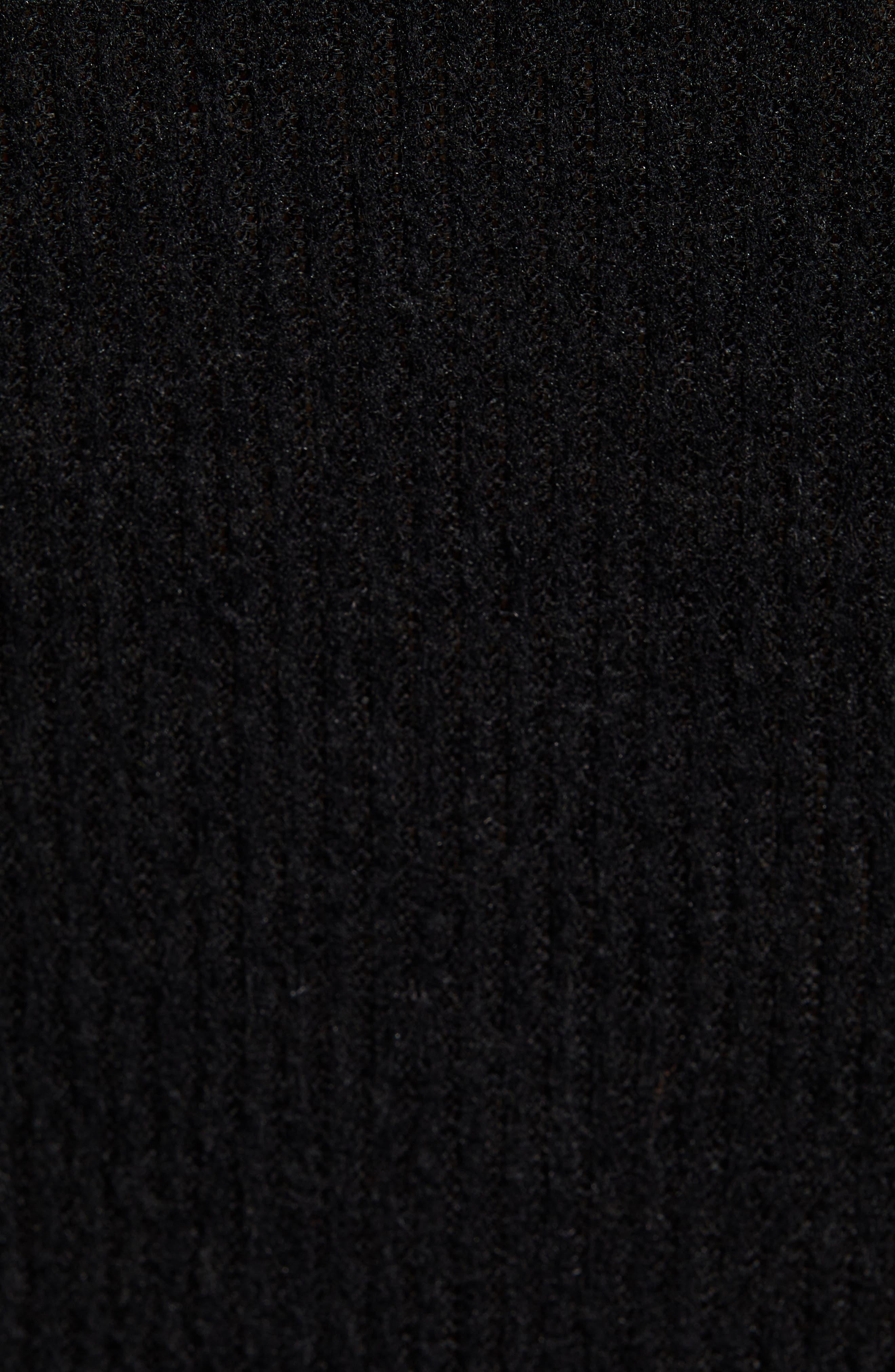 Ribbed V-Neck Bodysuit,                             Alternate thumbnail 5, color,                             BLACK
