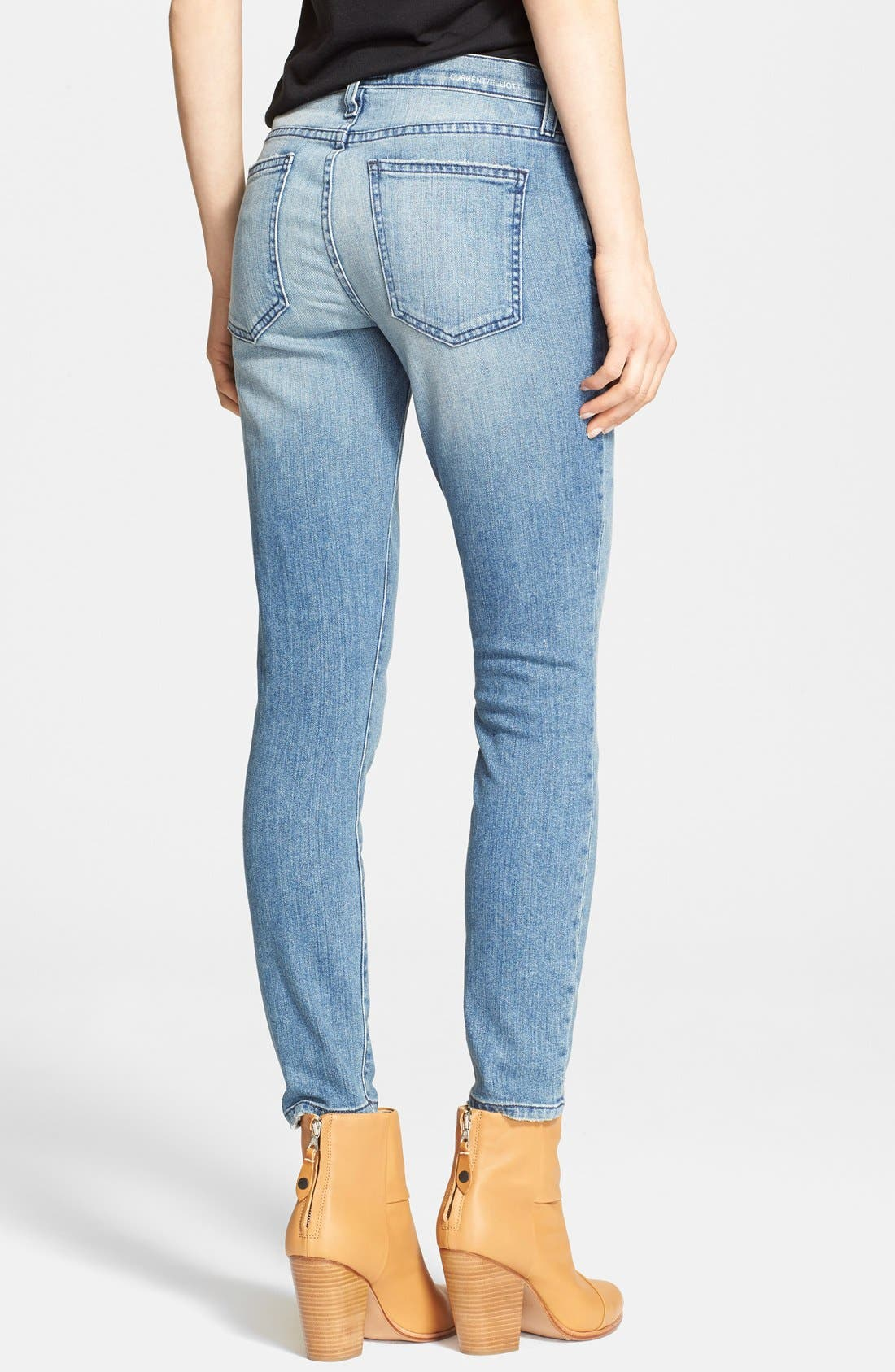 'The Stiletto' Destroyed Skinny Jeans,                             Alternate thumbnail 18, color,