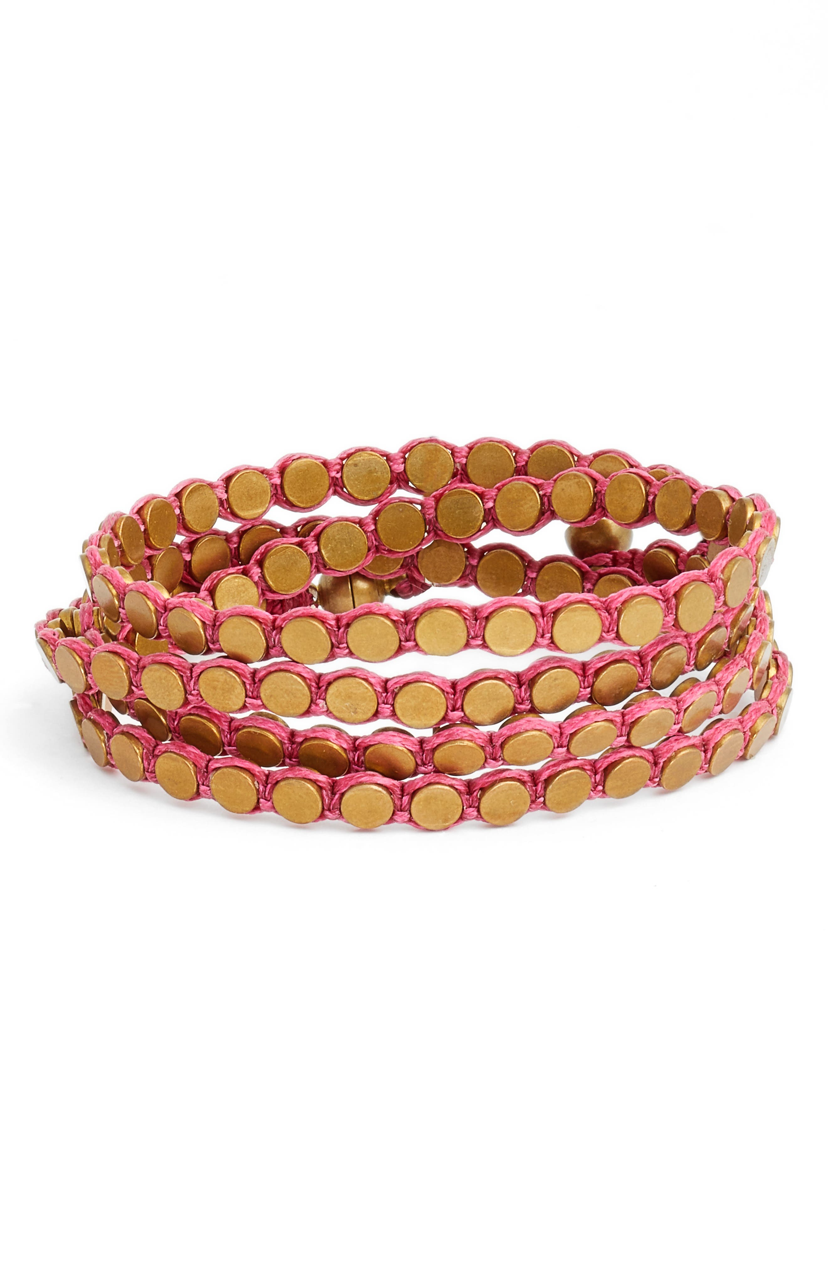 Disk Wrap Bracelet,                             Main thumbnail 4, color,