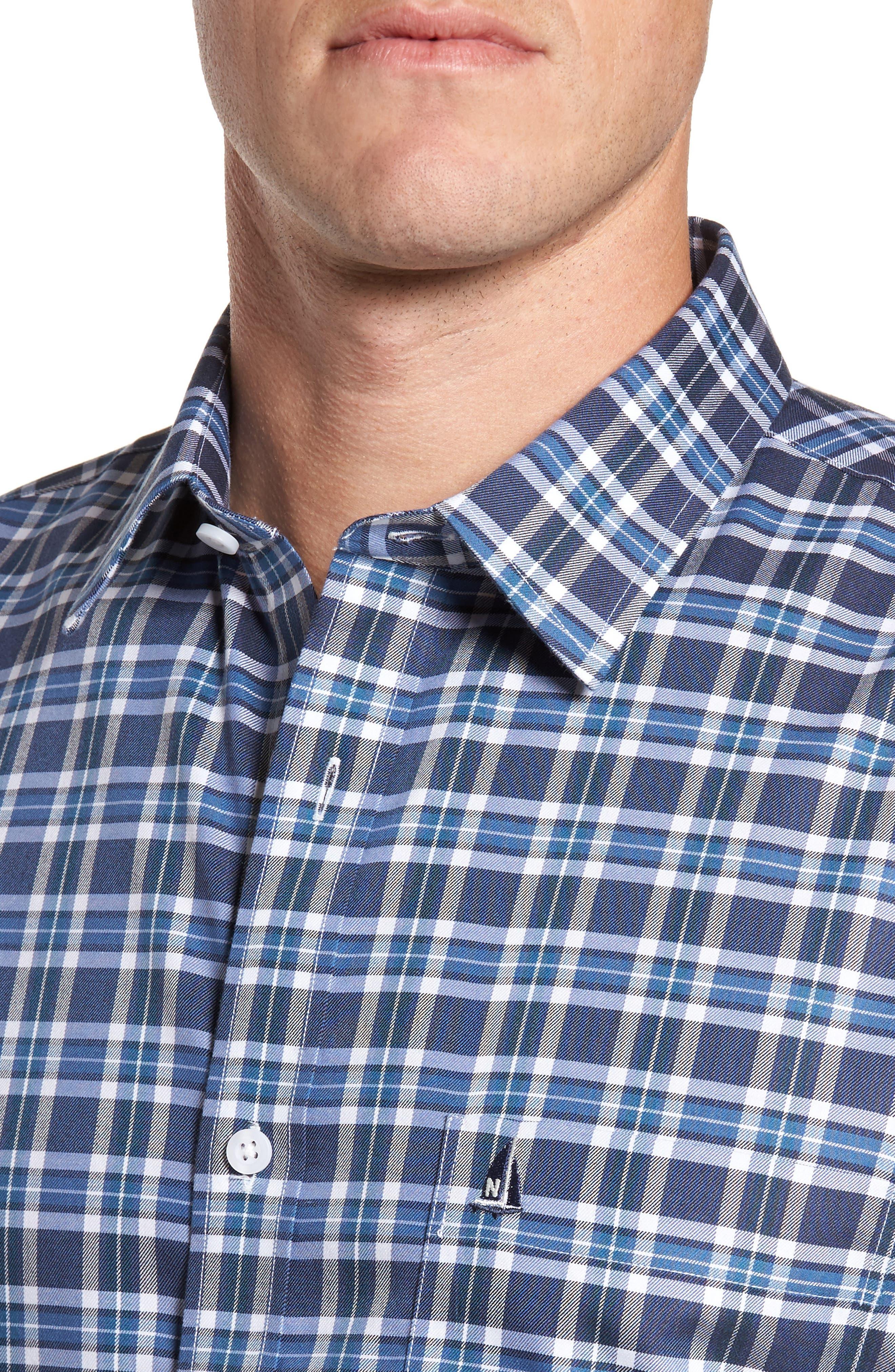 Smartcare<sup>™</sup> Regular Fit Plaid Sport Shirt,                             Alternate thumbnail 26, color,