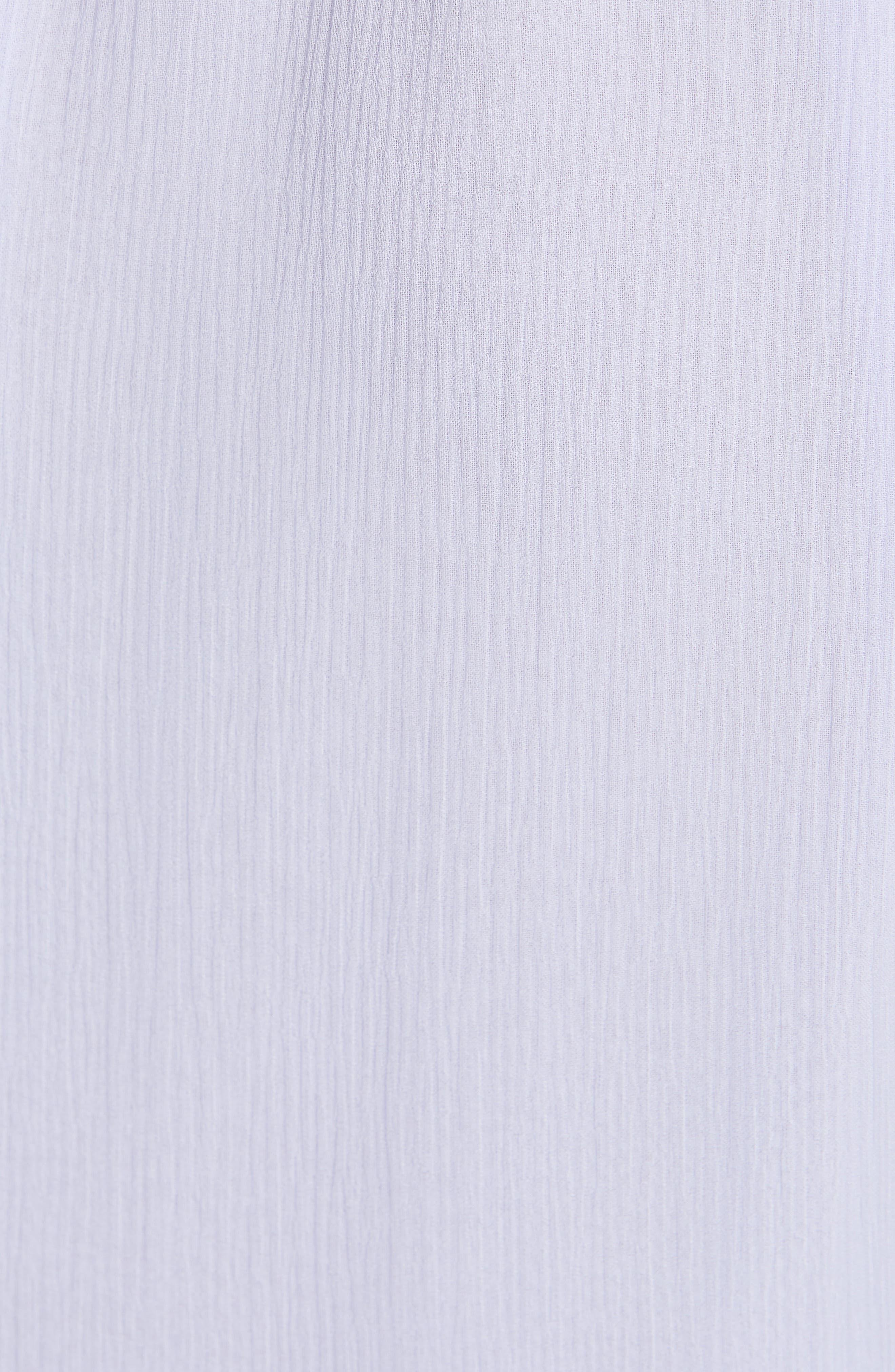 Asymmetrical Silk Midi Dress,                             Alternate thumbnail 6, color,                             SOFTY LILAC