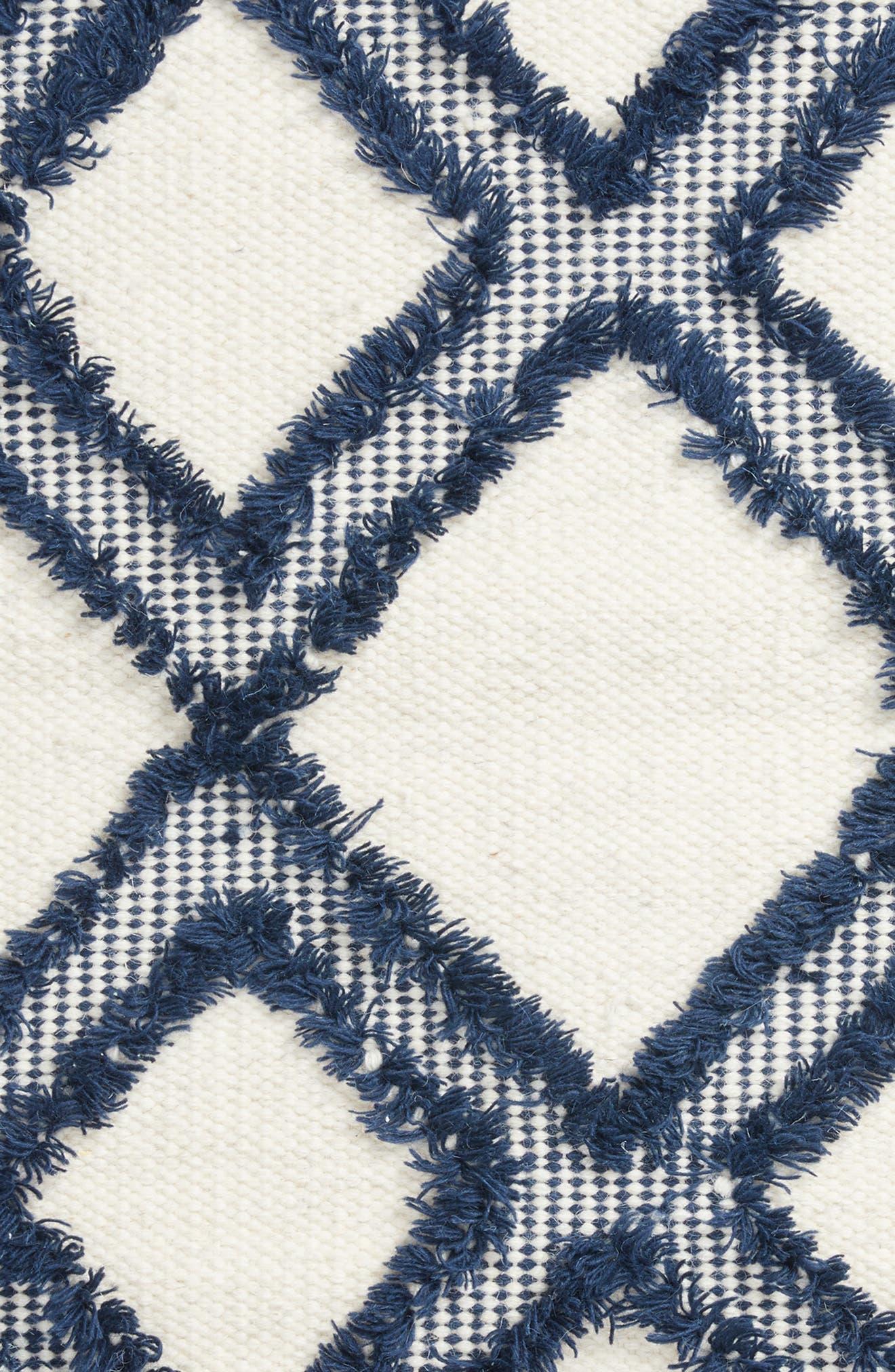 Diamond Tassel Rug,                             Alternate thumbnail 2, color,