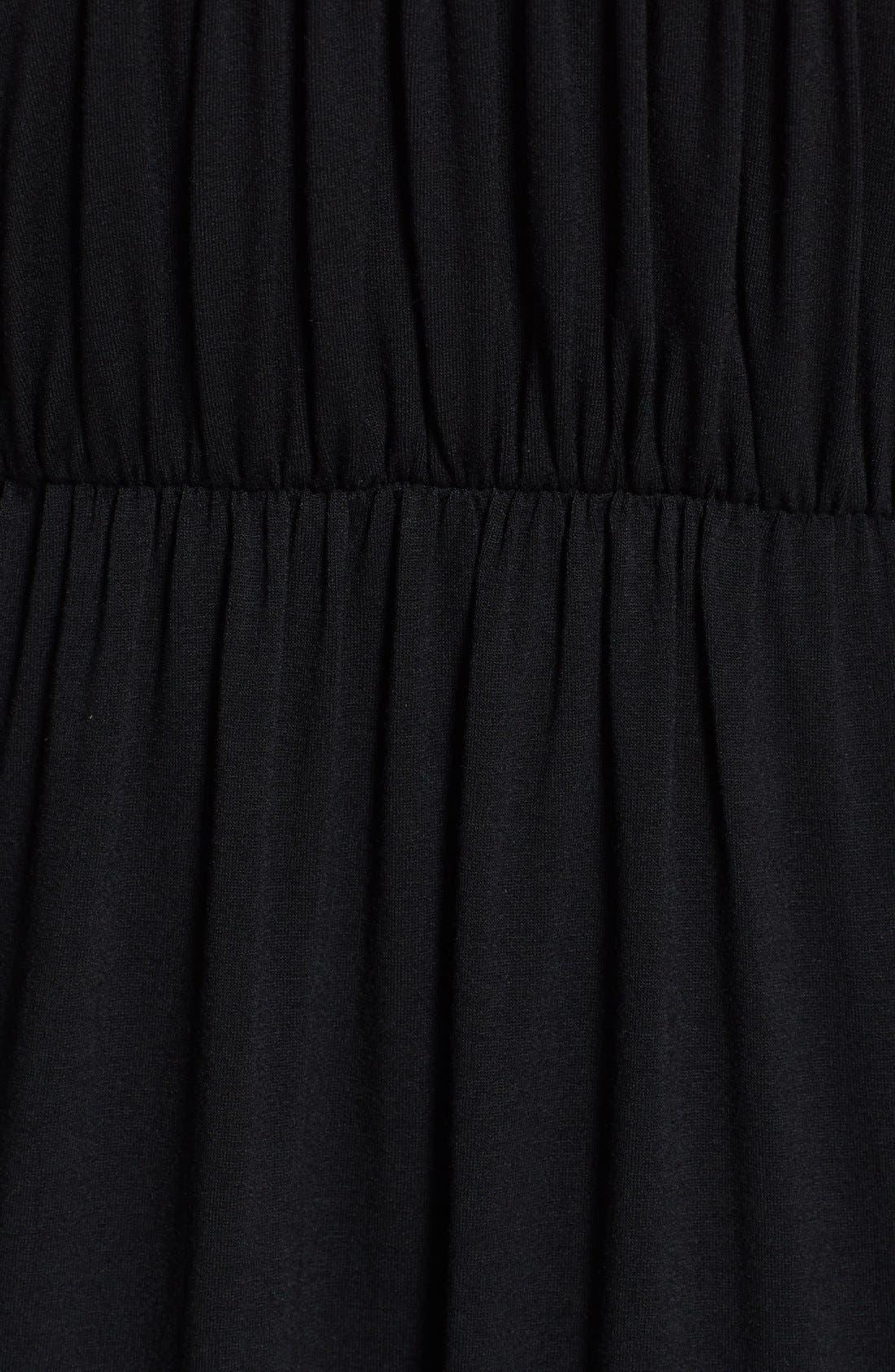 'Vanessa' Maternity Dress,                             Alternate thumbnail 4, color,                             BLACK