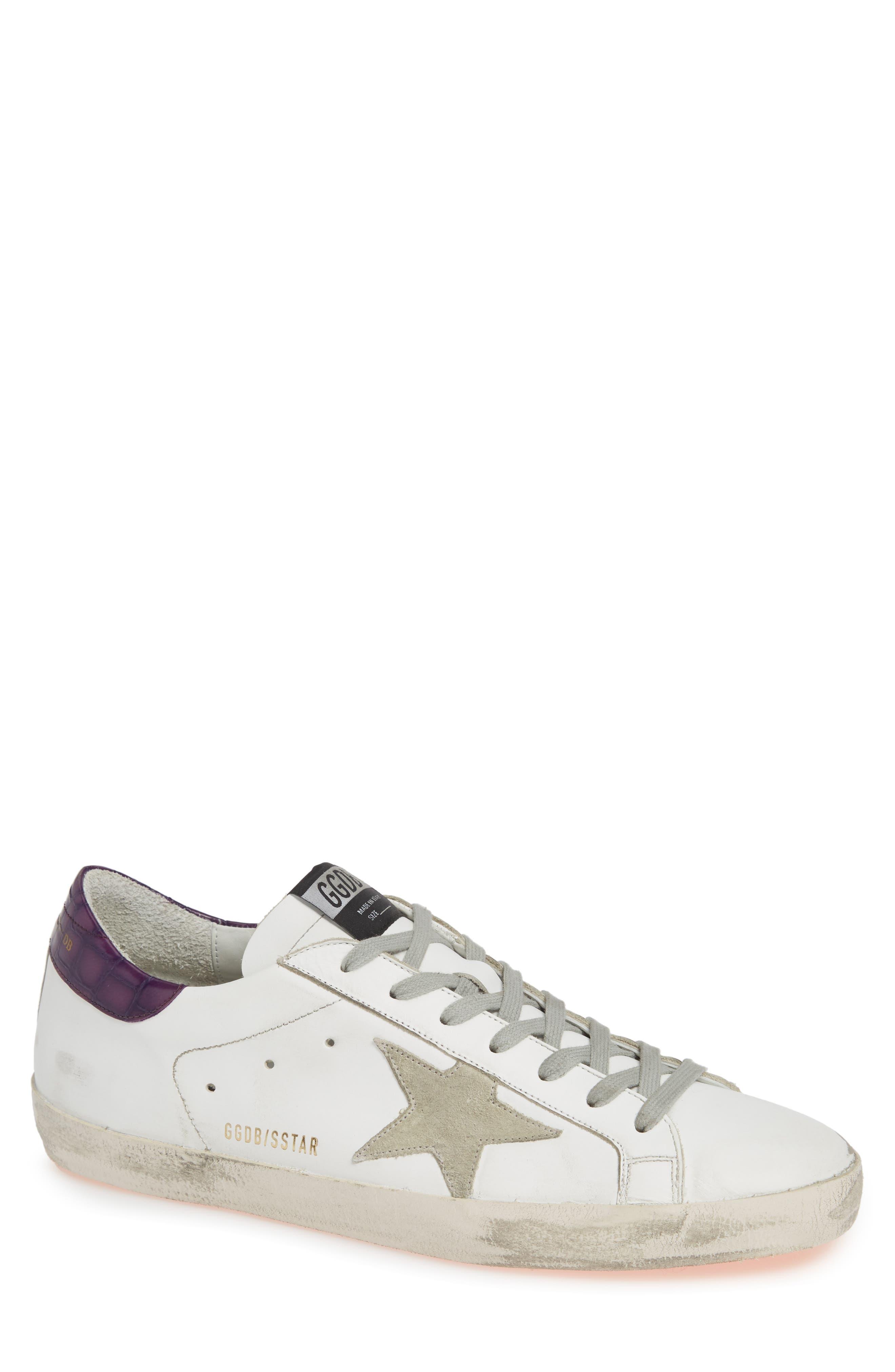 GOLDEN GOOSE,                             'Superstar' Sneaker,                             Main thumbnail 1, color,                             WHITE/ VIOLET