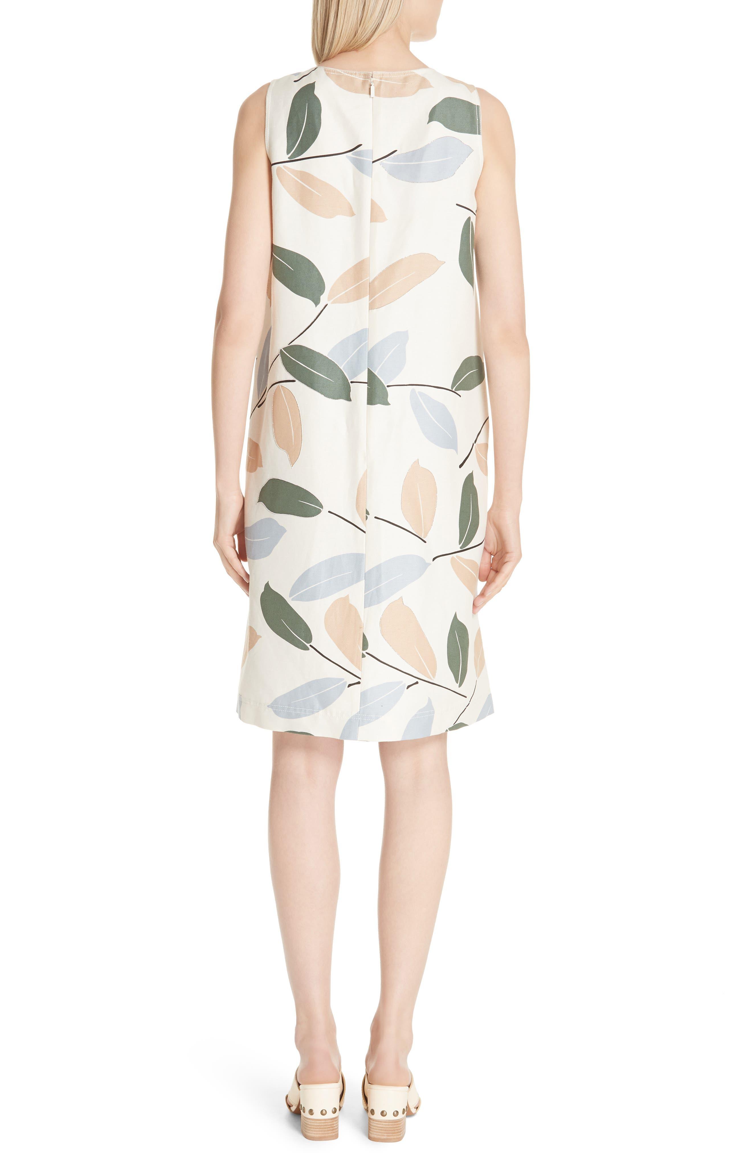 Hana Linen & Cotton Shift Dress,                             Alternate thumbnail 2, color,                             RAFFIA MULTI