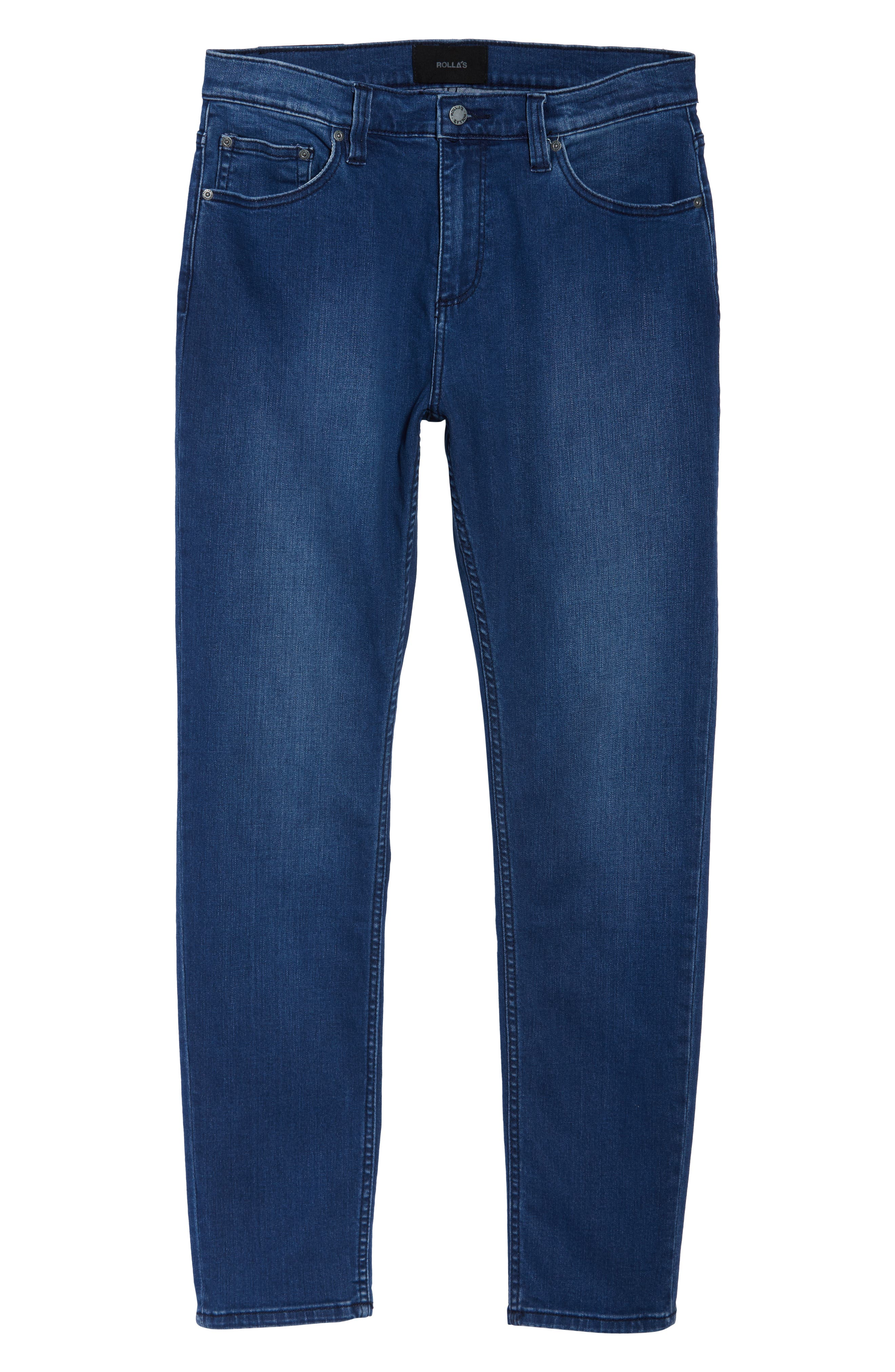 ROLLA'S,                             Tim Slims Slim Fit Jeans,                             Alternate thumbnail 4, color,                             FOSTERS BLUE