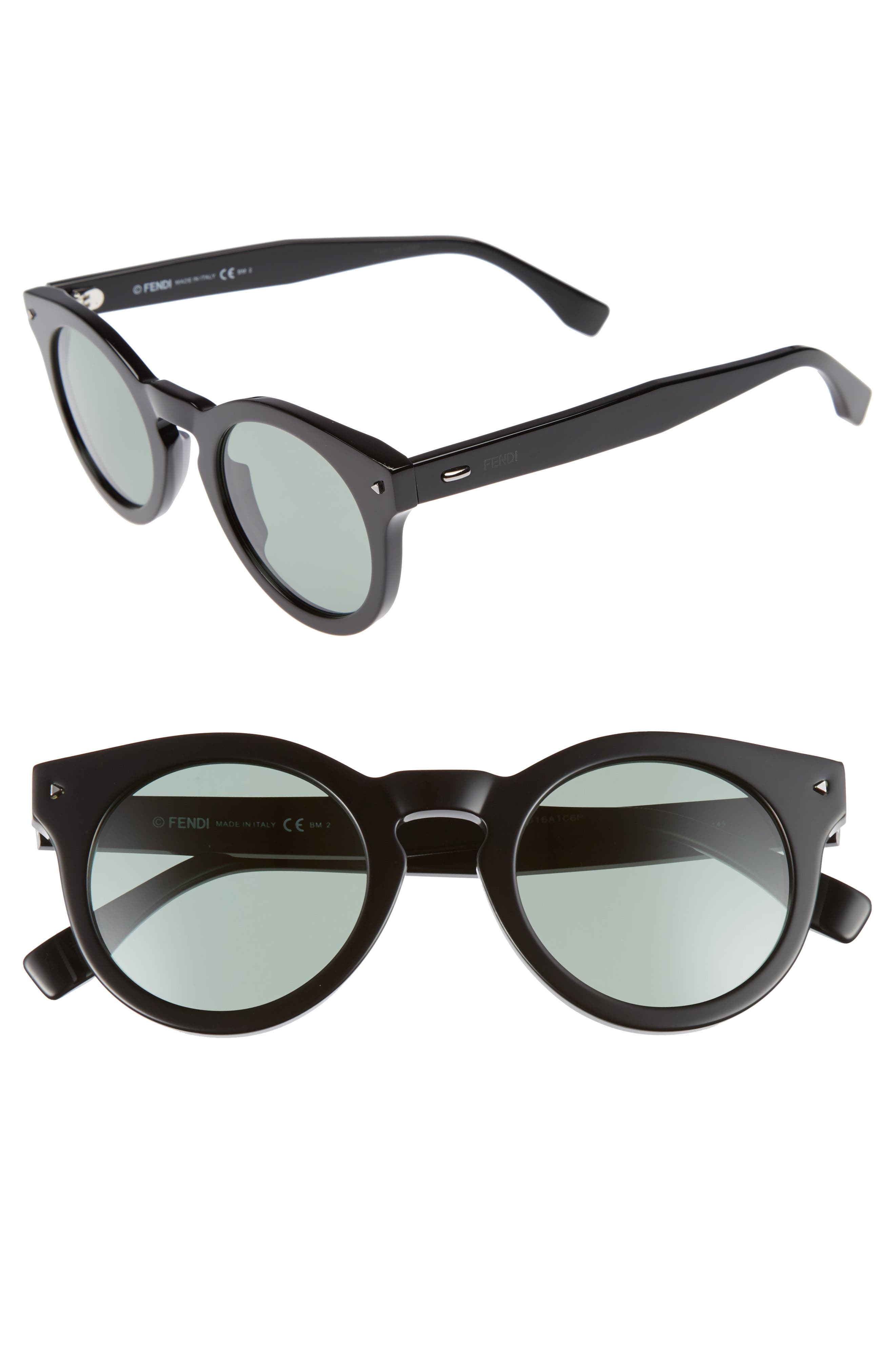 48mm Sunglasses,                         Main,                         color, 001