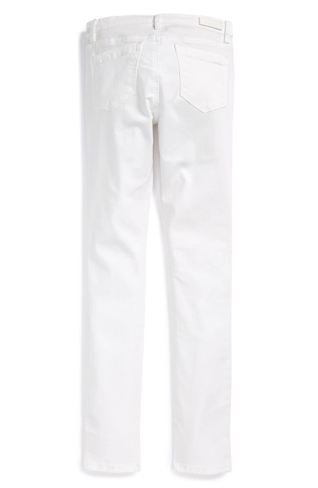 Stretch Denim Skinny Jeans,                             Alternate thumbnail 4, color,