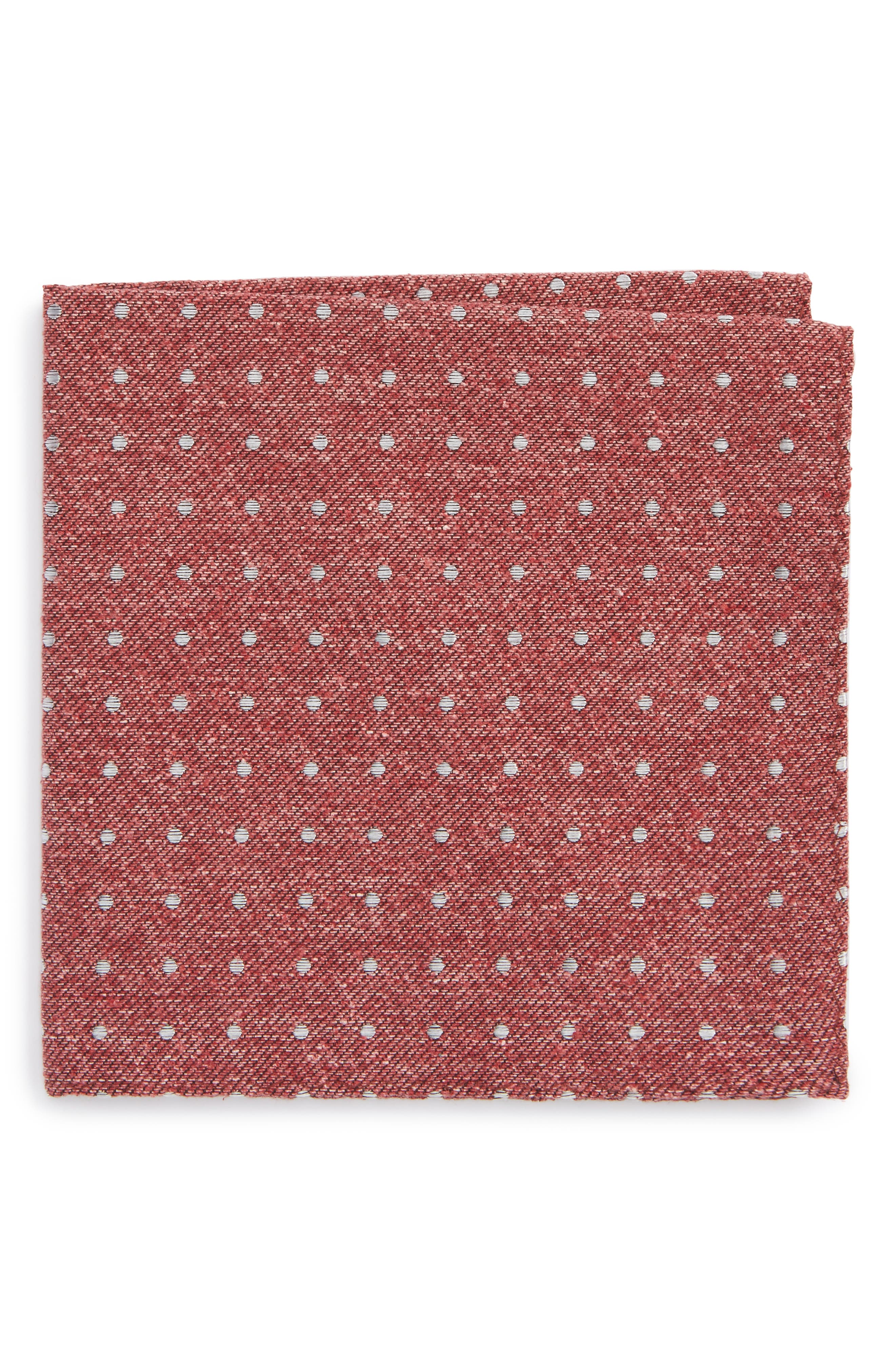 Knotted Dots Silk Pocket Square,                             Main thumbnail 1, color,                             600