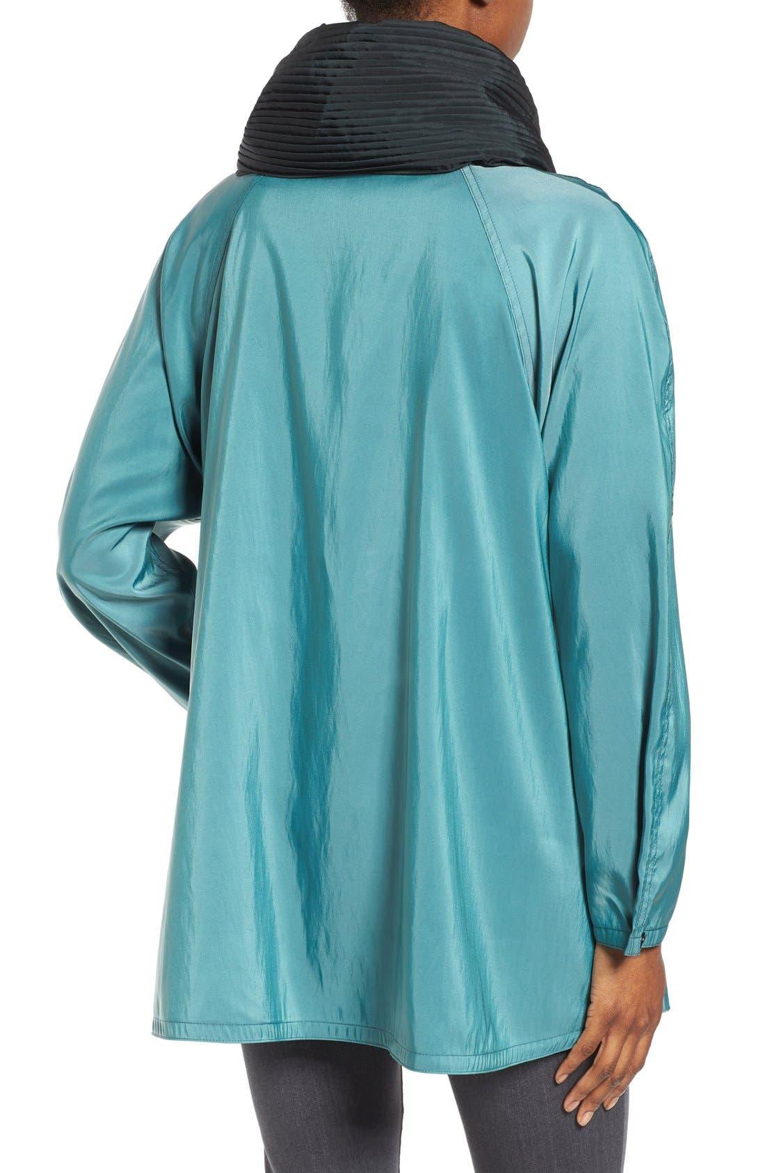 'Mini Donatella' Reversible Pleat Hood Packable Travel Coat,                             Alternate thumbnail 68, color,