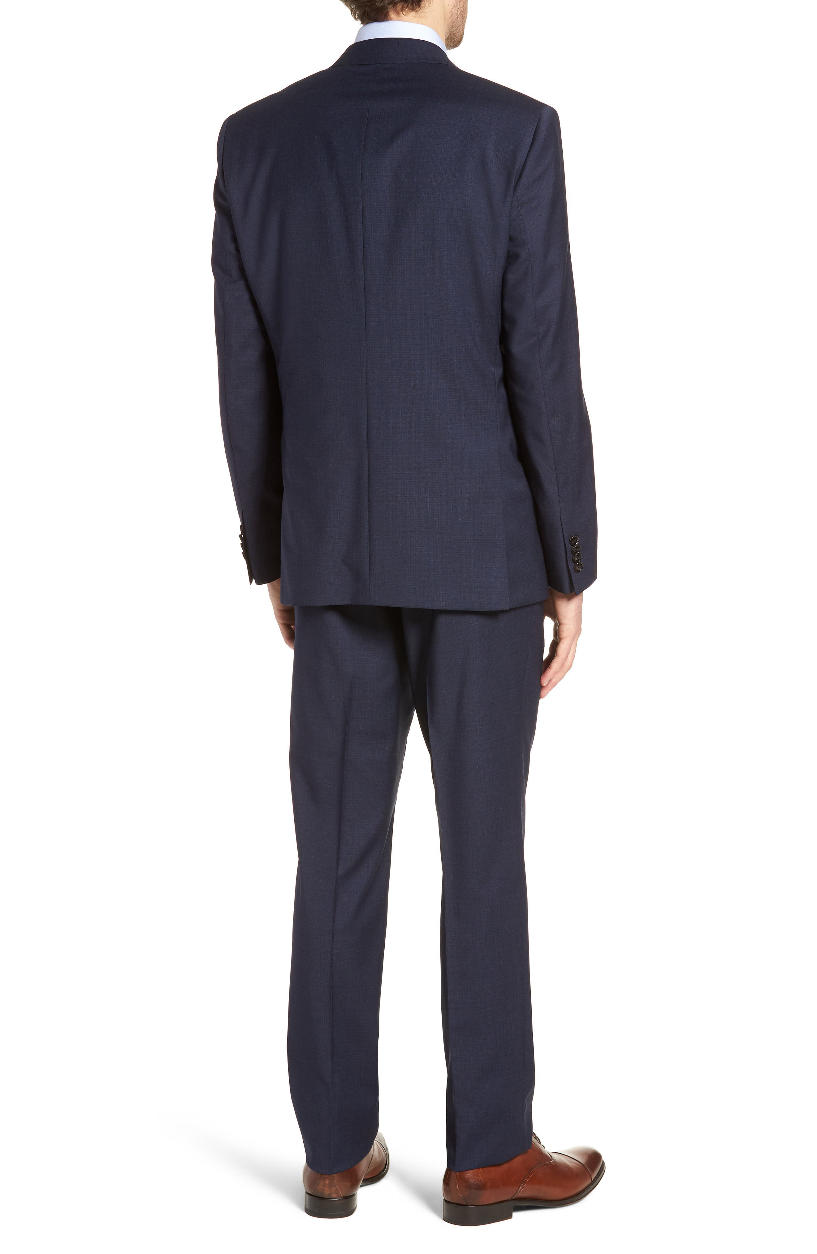 Jay Trim Fit Solid Wool Suit,                             Alternate thumbnail 2, color,                             BLUE