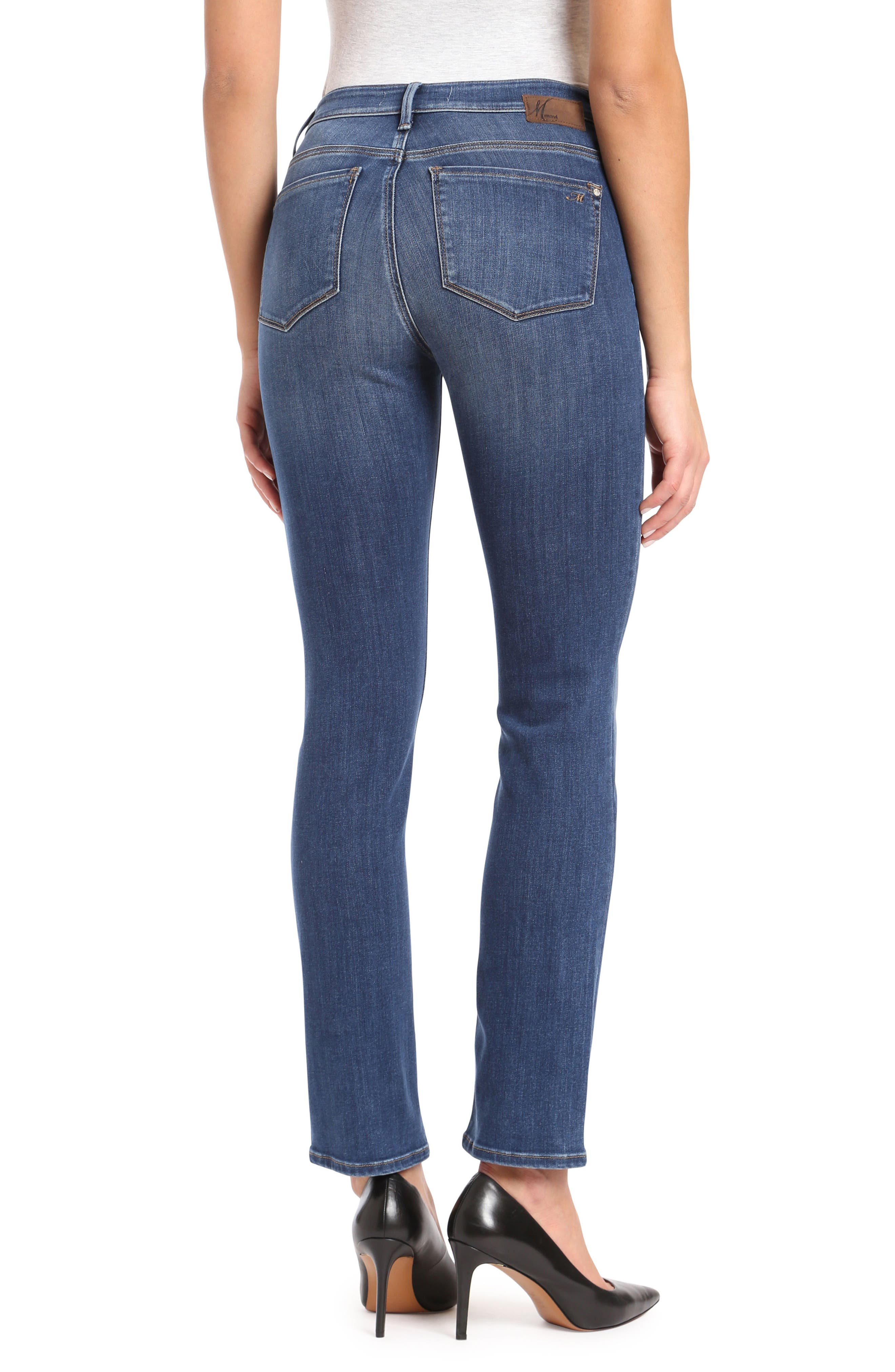 Kendra Straight Leg Jeans,                             Alternate thumbnail 2, color,                             INDIGO SUPER SOFT