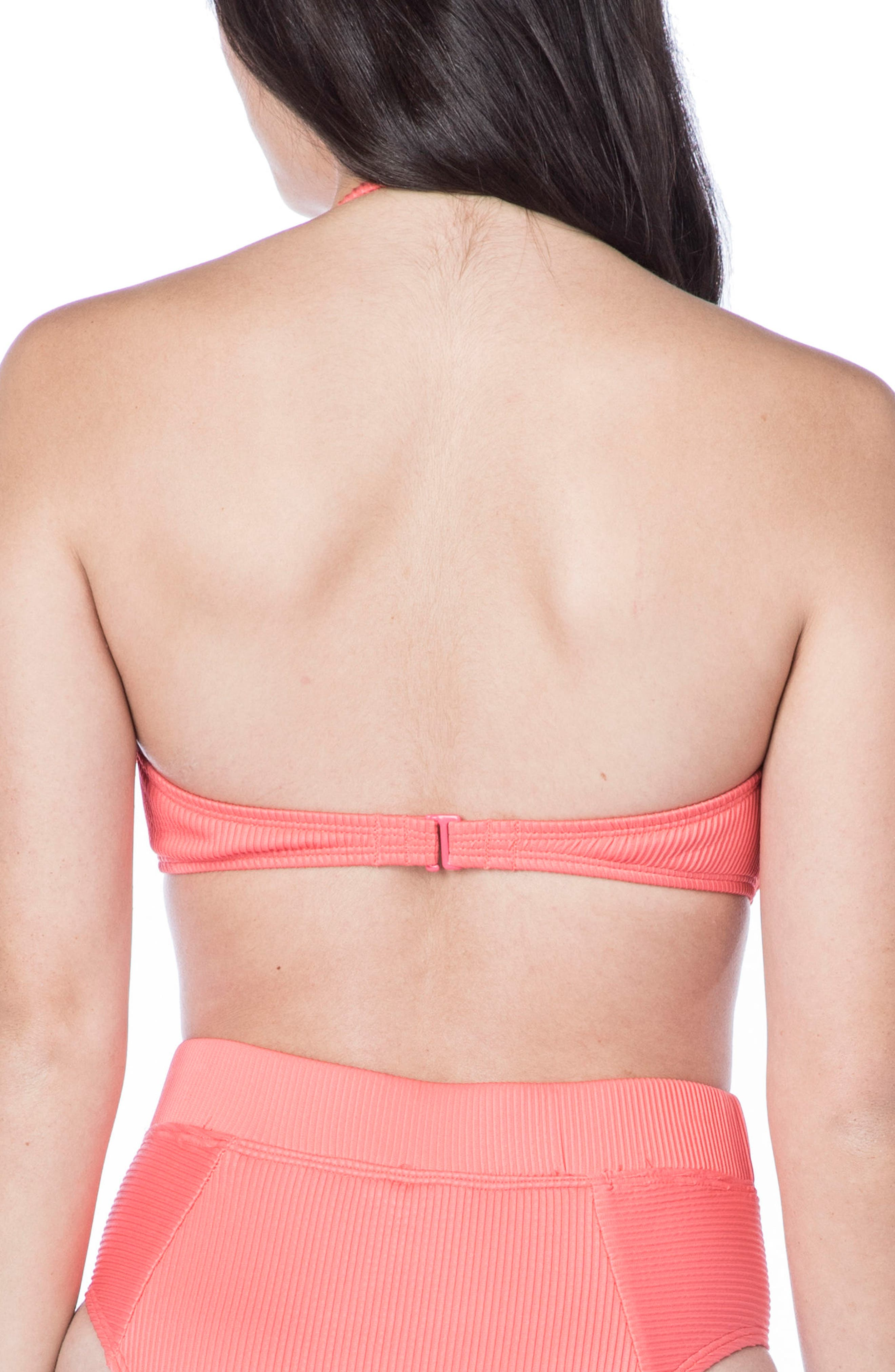 Rib-Thym Bandeau Bikini Top,                             Alternate thumbnail 2, color,