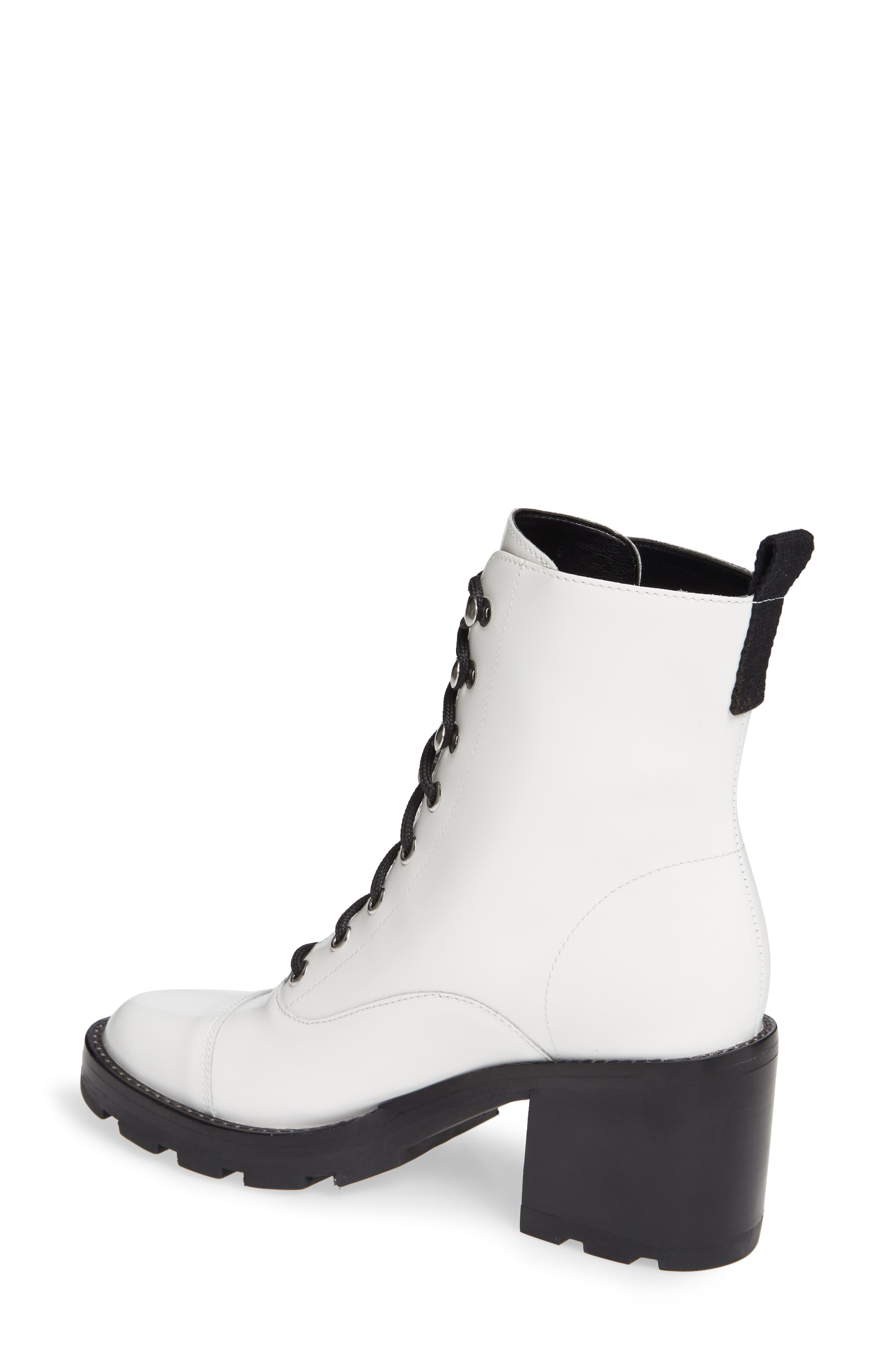 Wanya Boot,                             Alternate thumbnail 2, color,                             WHITE LEATHER