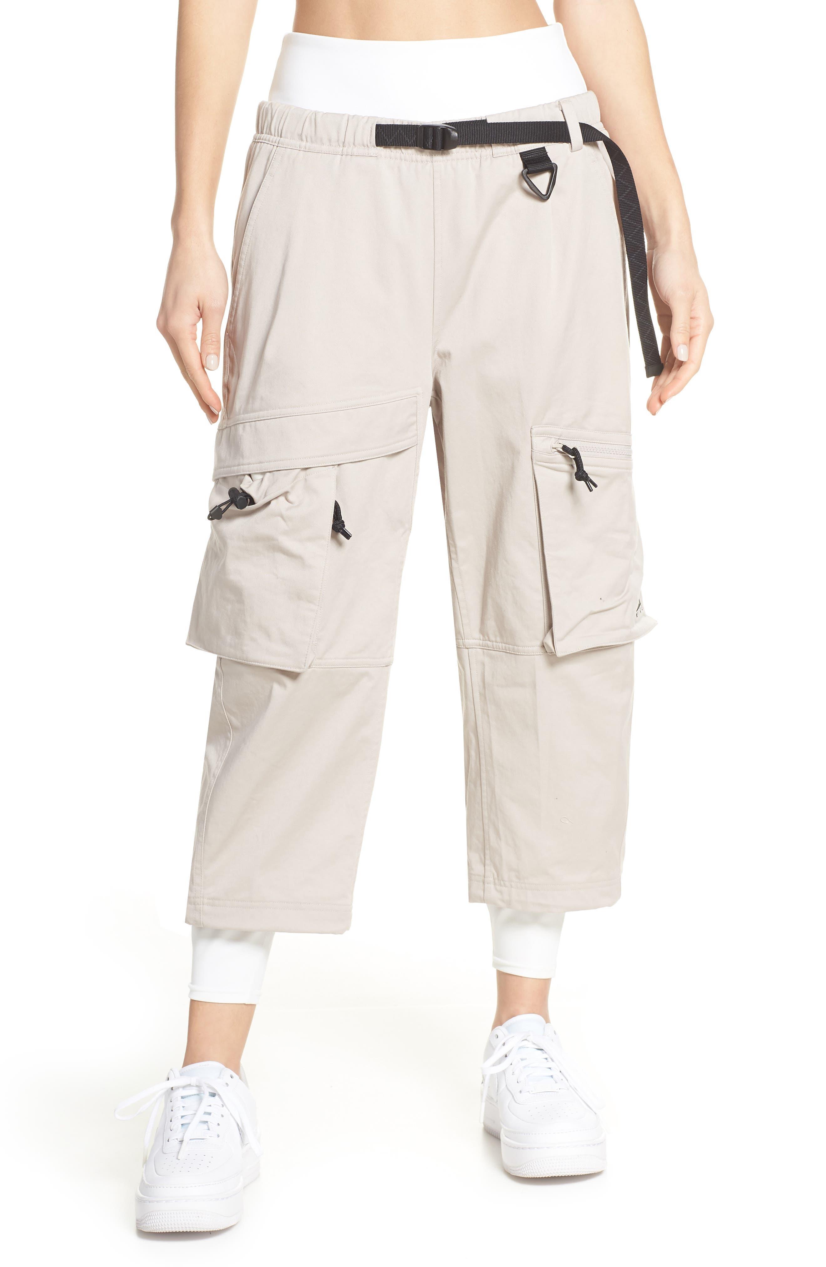 NIKE,                             ACG Women's Cargo Pants,                             Main thumbnail 1, color,                             MOON PARTICLE
