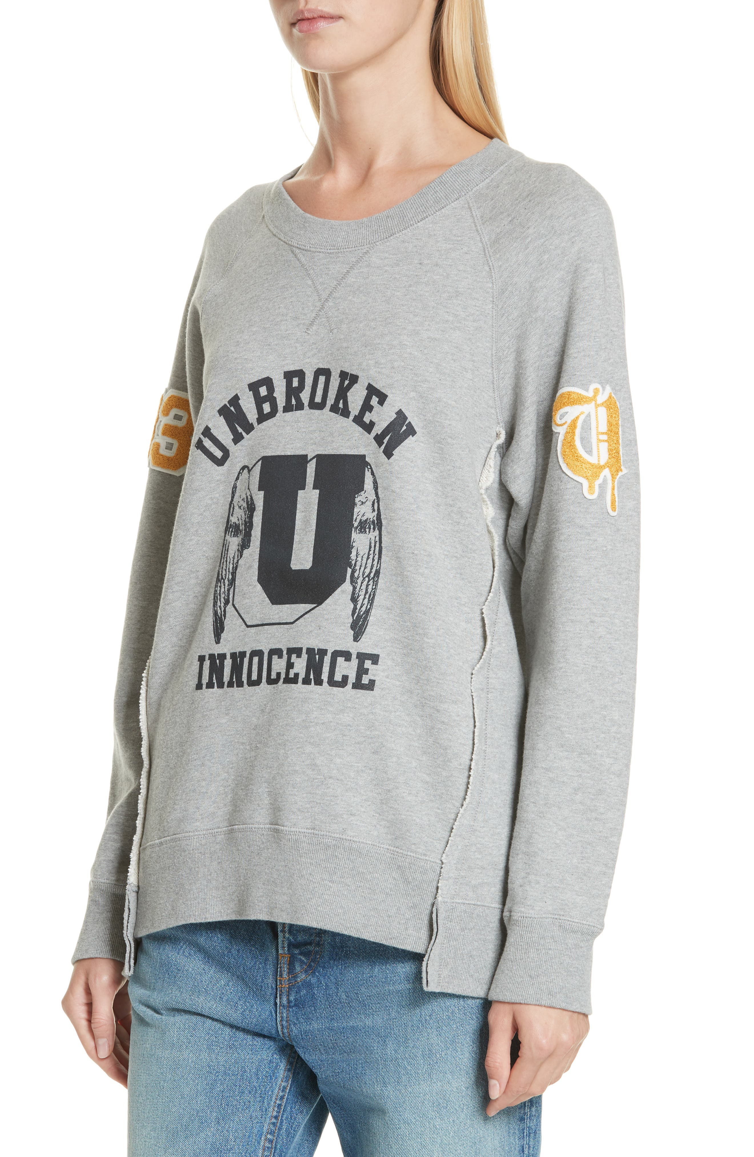 Unbroken Innocence Sweatshirt,                             Alternate thumbnail 4, color,                             B TOP GRAY