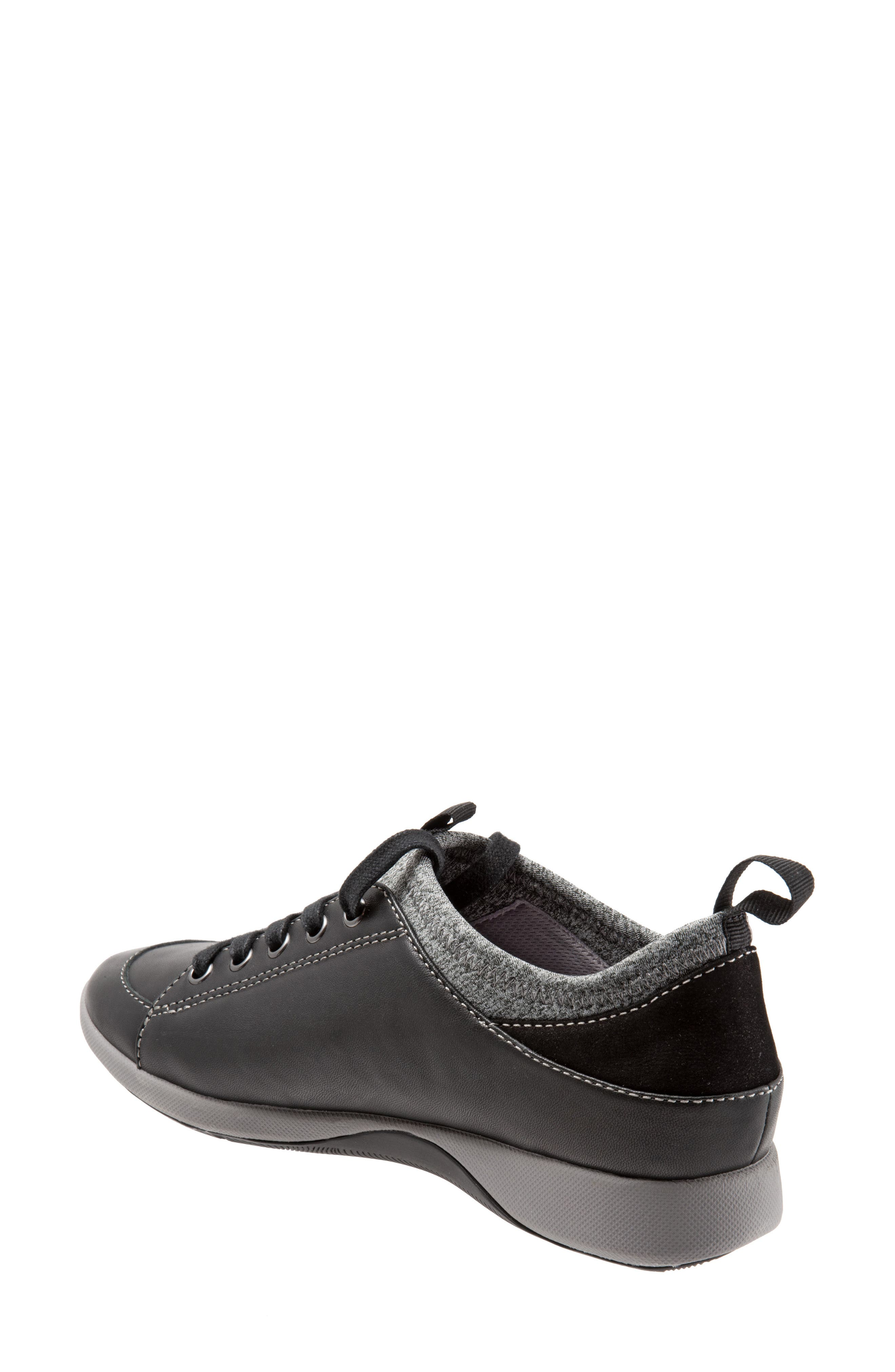 SAVA Haven Sneaker,                             Alternate thumbnail 2, color,                             BLACK/ GREY LEATHER