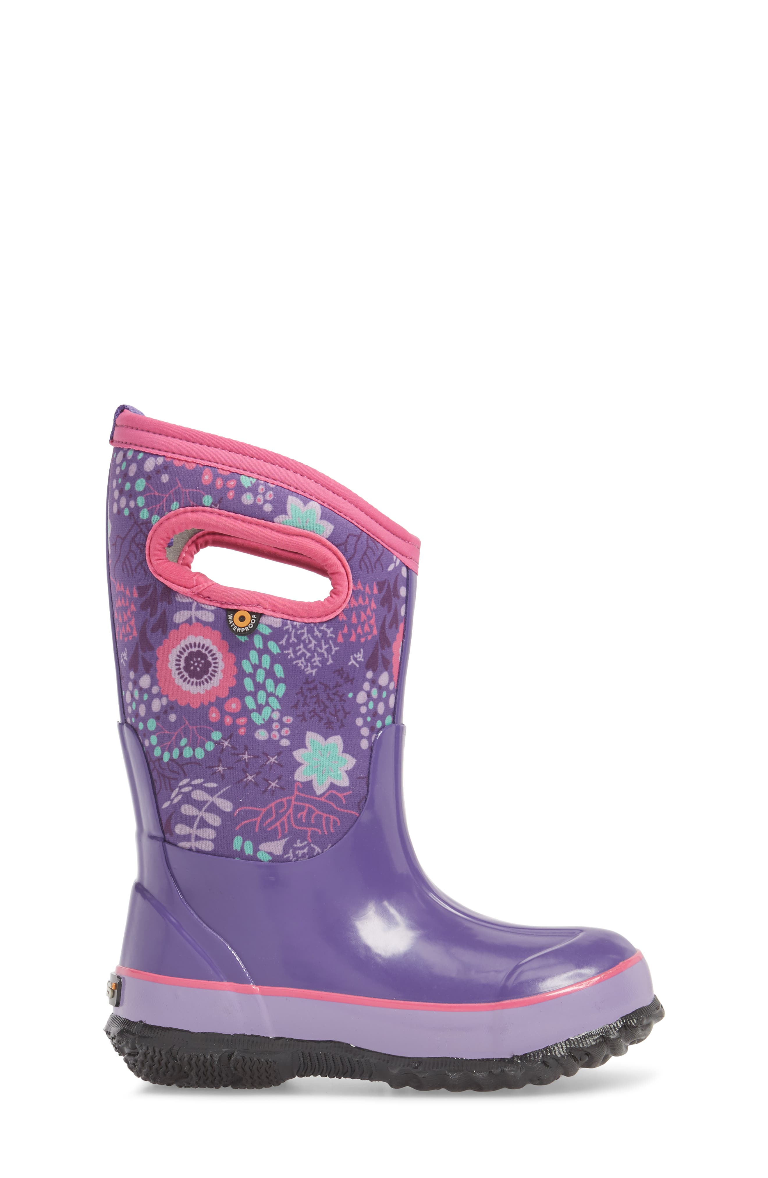 BOGS,                             Classic Reef Insulated Print Waterproof Boot,                             Alternate thumbnail 3, color,                             540