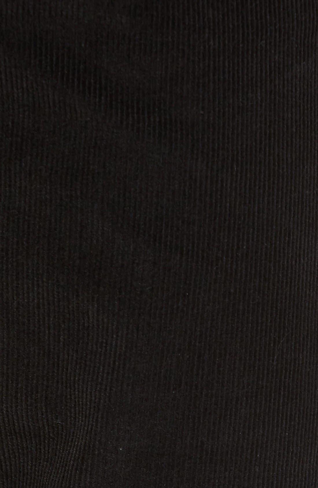 Industrialist Slim Fit Corduroy Pants,                             Alternate thumbnail 5, color,                             001
