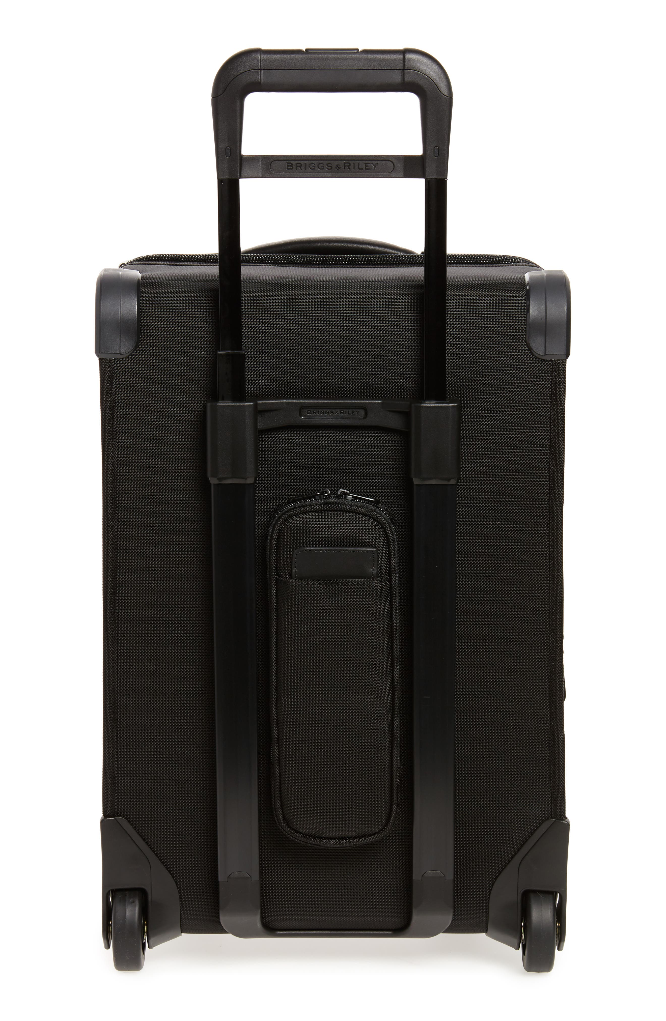 'Baseline - Domestic' Rolling Carry-On Garment Bag,                             Alternate thumbnail 4, color,                             BLACK