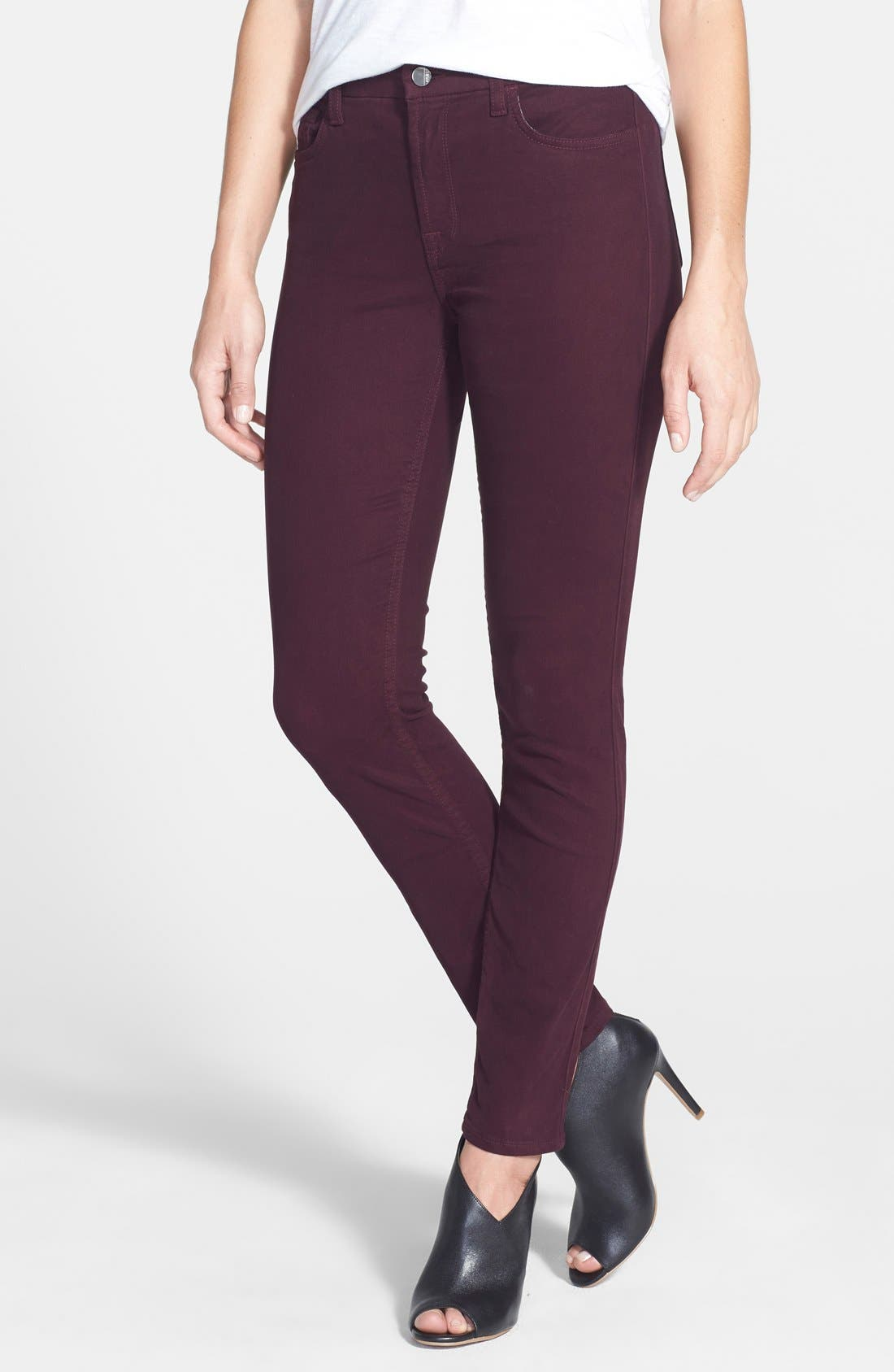 Colored Stretch Denim Skinny Jeans,                             Main thumbnail 9, color,