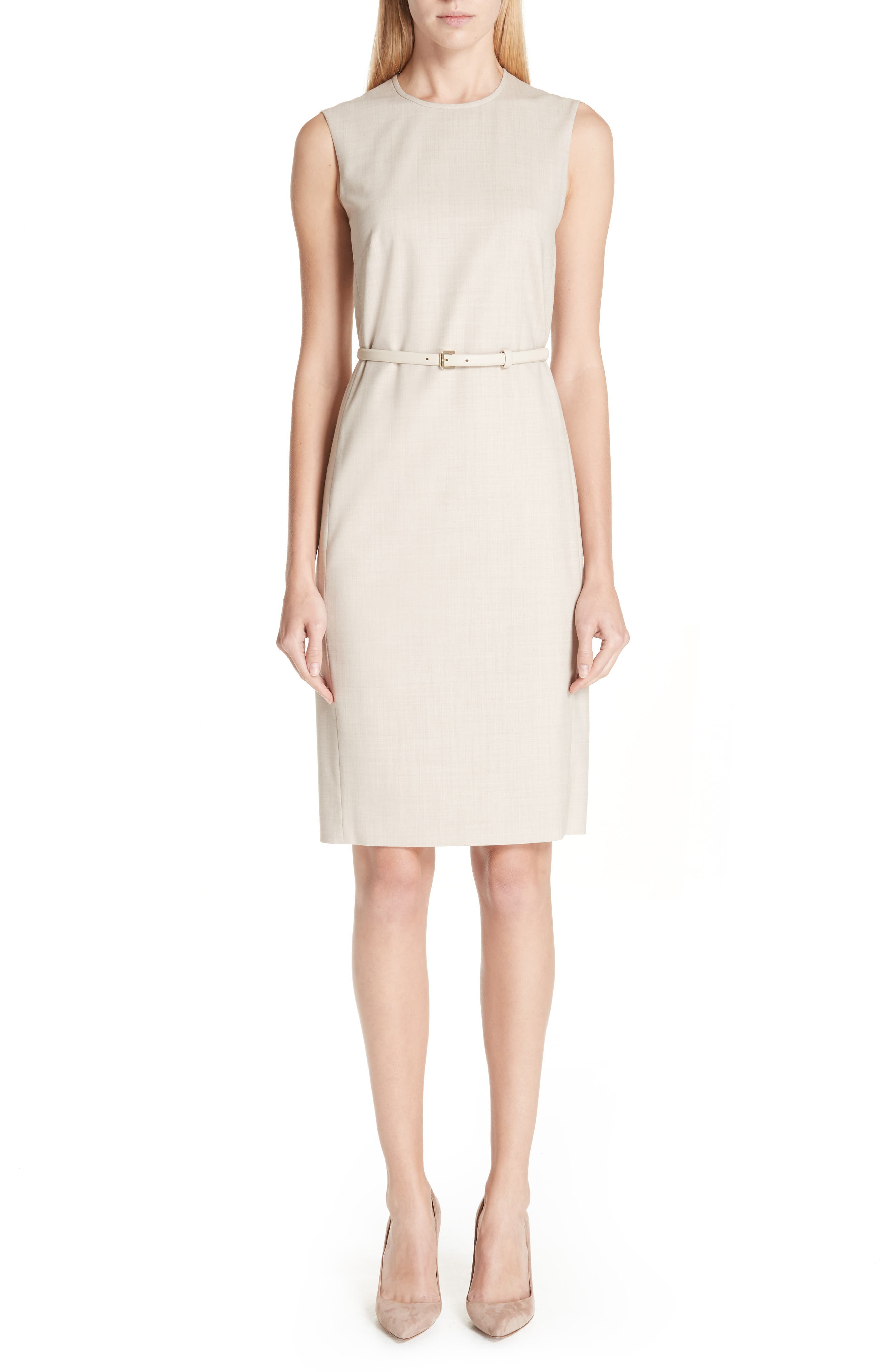 MAX MARA Petra Stretch Wool Dress, Main, color, 264