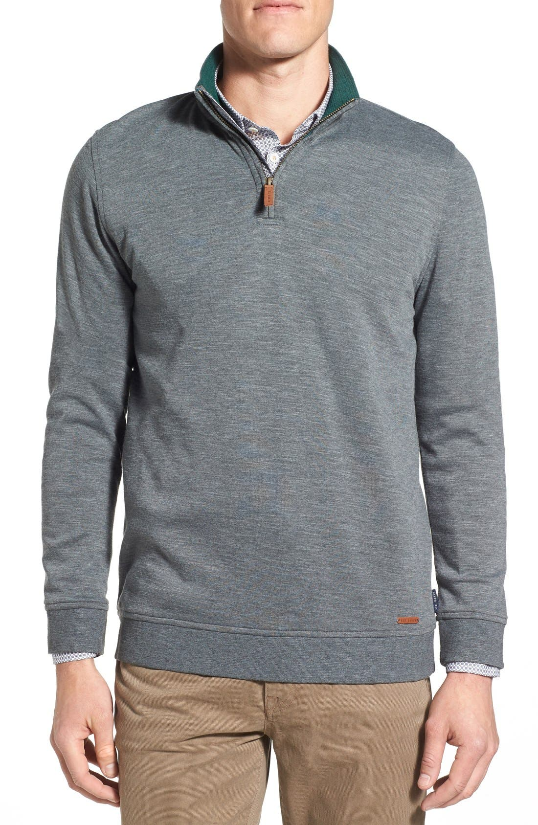 'Mandra' Quarter Zip Pullover,                             Main thumbnail 1, color,                             020