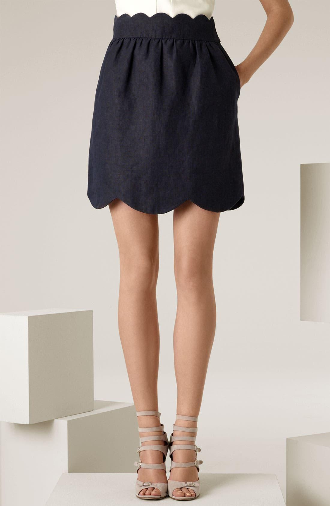 Scallop Skirt,                             Main thumbnail 1, color,                             400