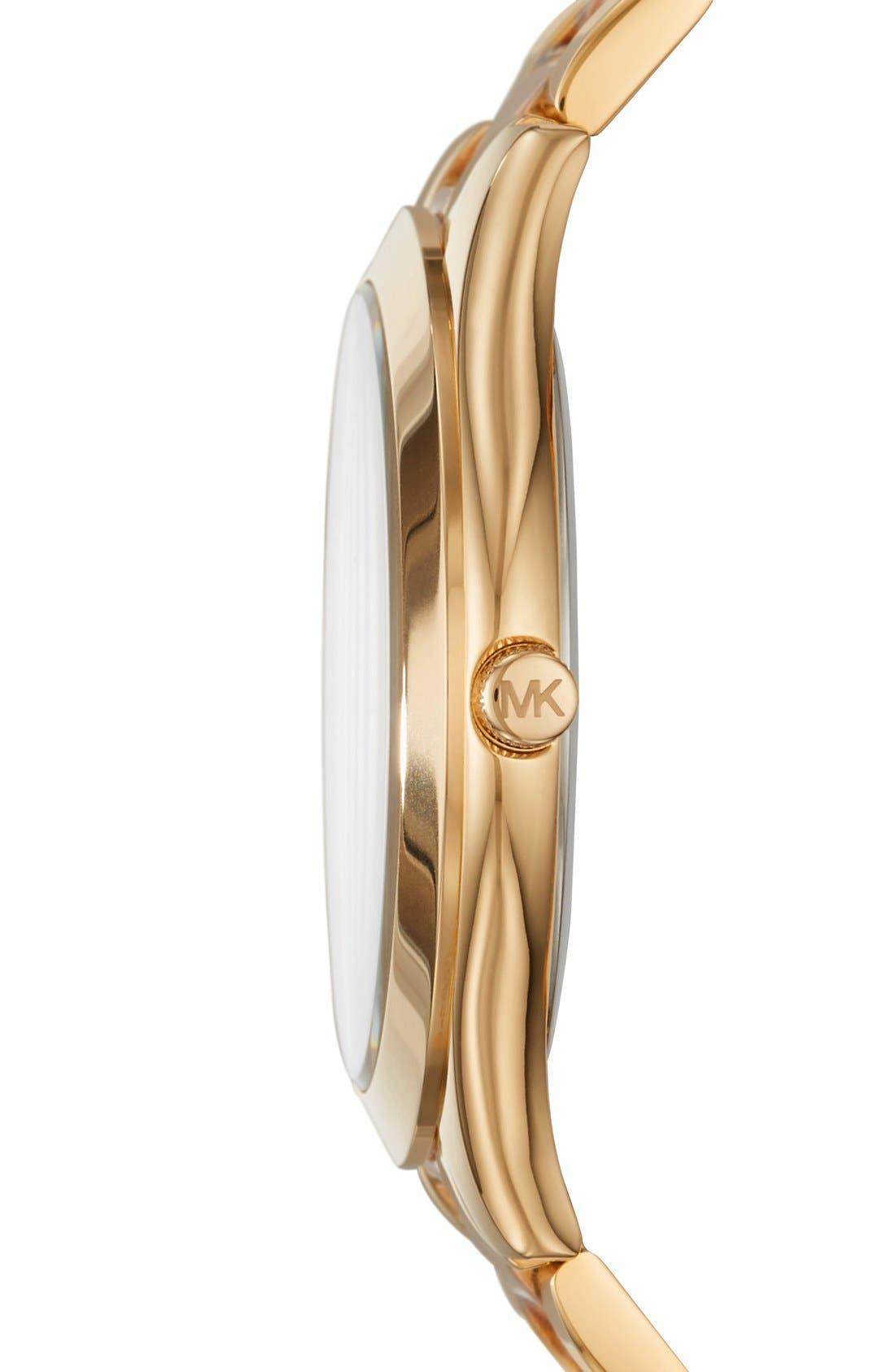 'Slim Runway' Bracelet Watch, 42mm,                             Alternate thumbnail 2, color,                             GOLD/ ROSE