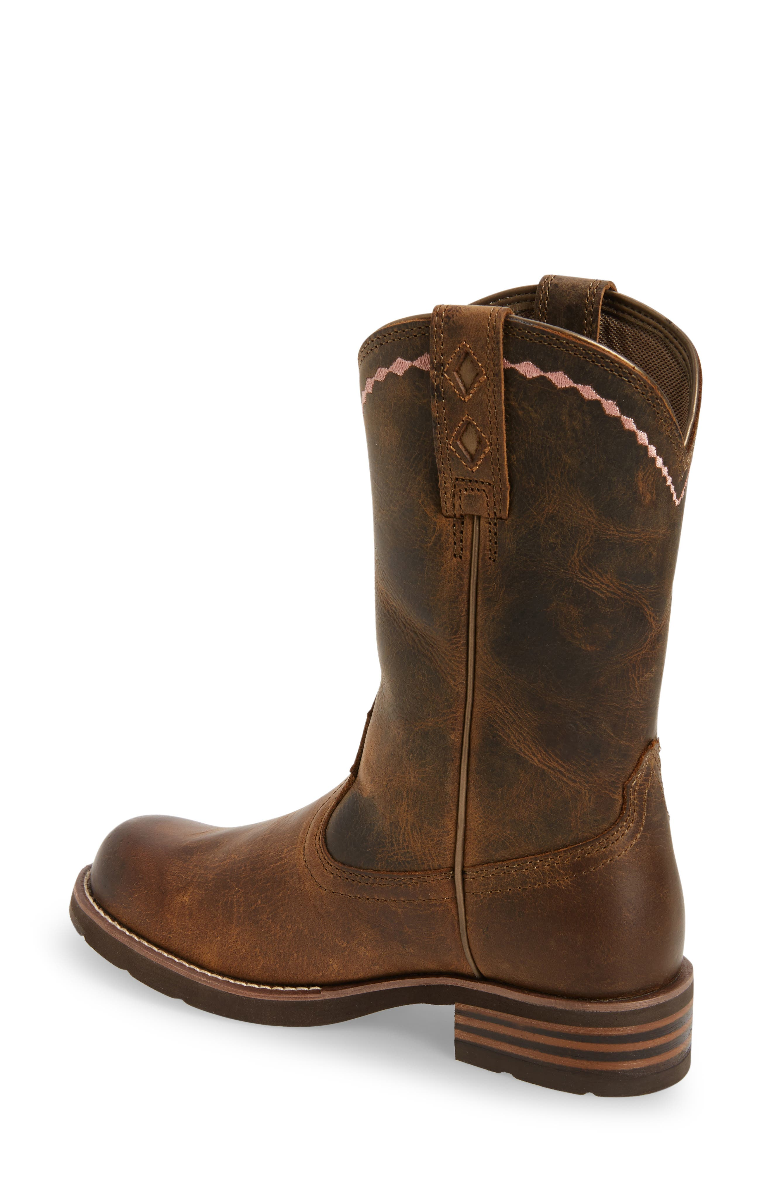 Unbridled Roper Western Boot,                             Alternate thumbnail 2, color,                             DISTRESSED BROWN LEATHER