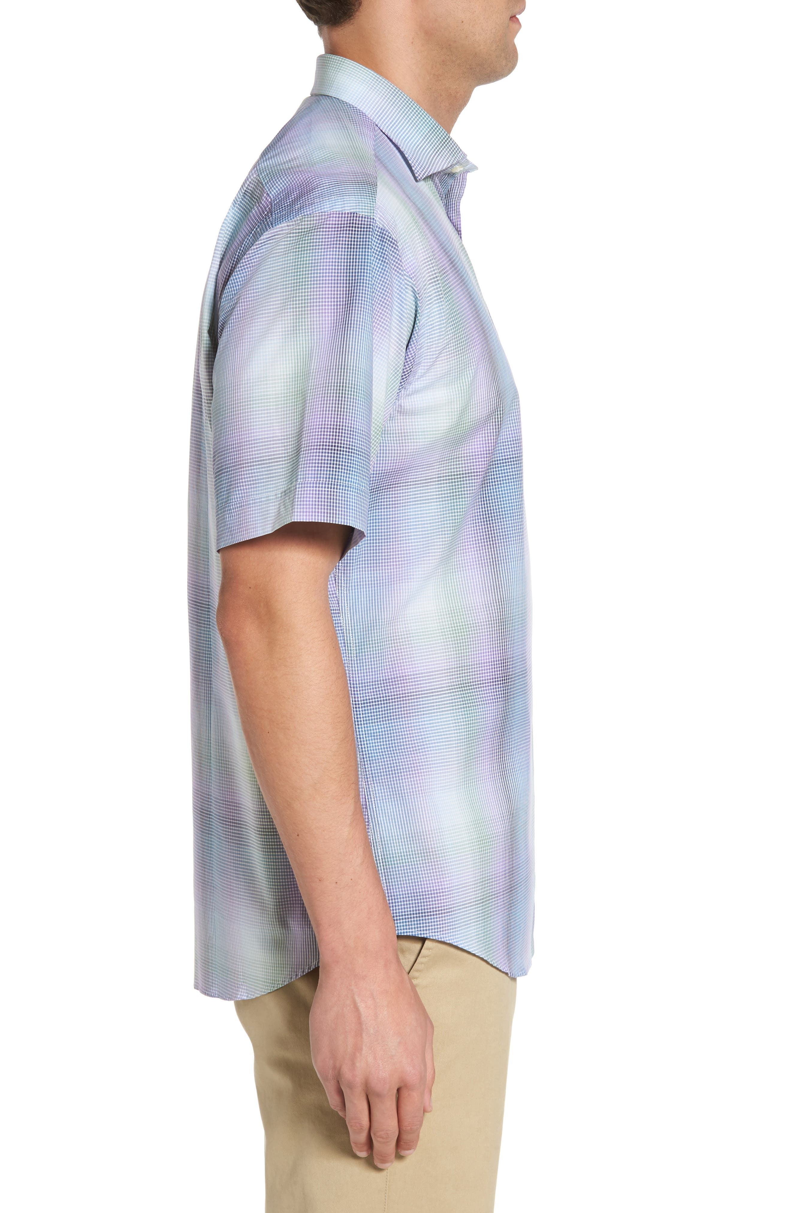 Classic Fit Shadow Check Sport Shirt,                             Alternate thumbnail 3, color,                             500