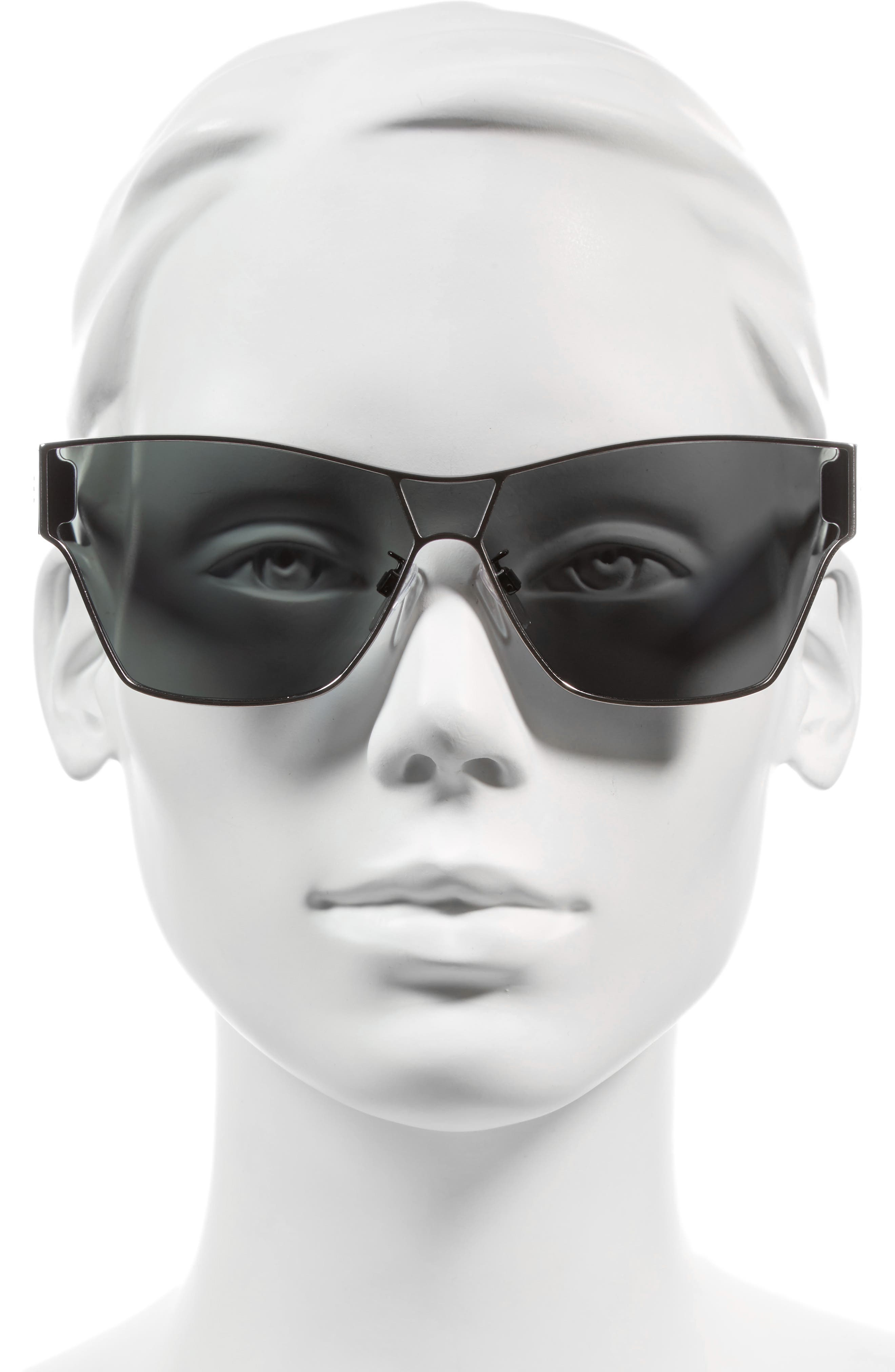 67mm Sunglasses,                             Alternate thumbnail 2, color,                             RUTHENIUM FRONT/ DARK HAVANA