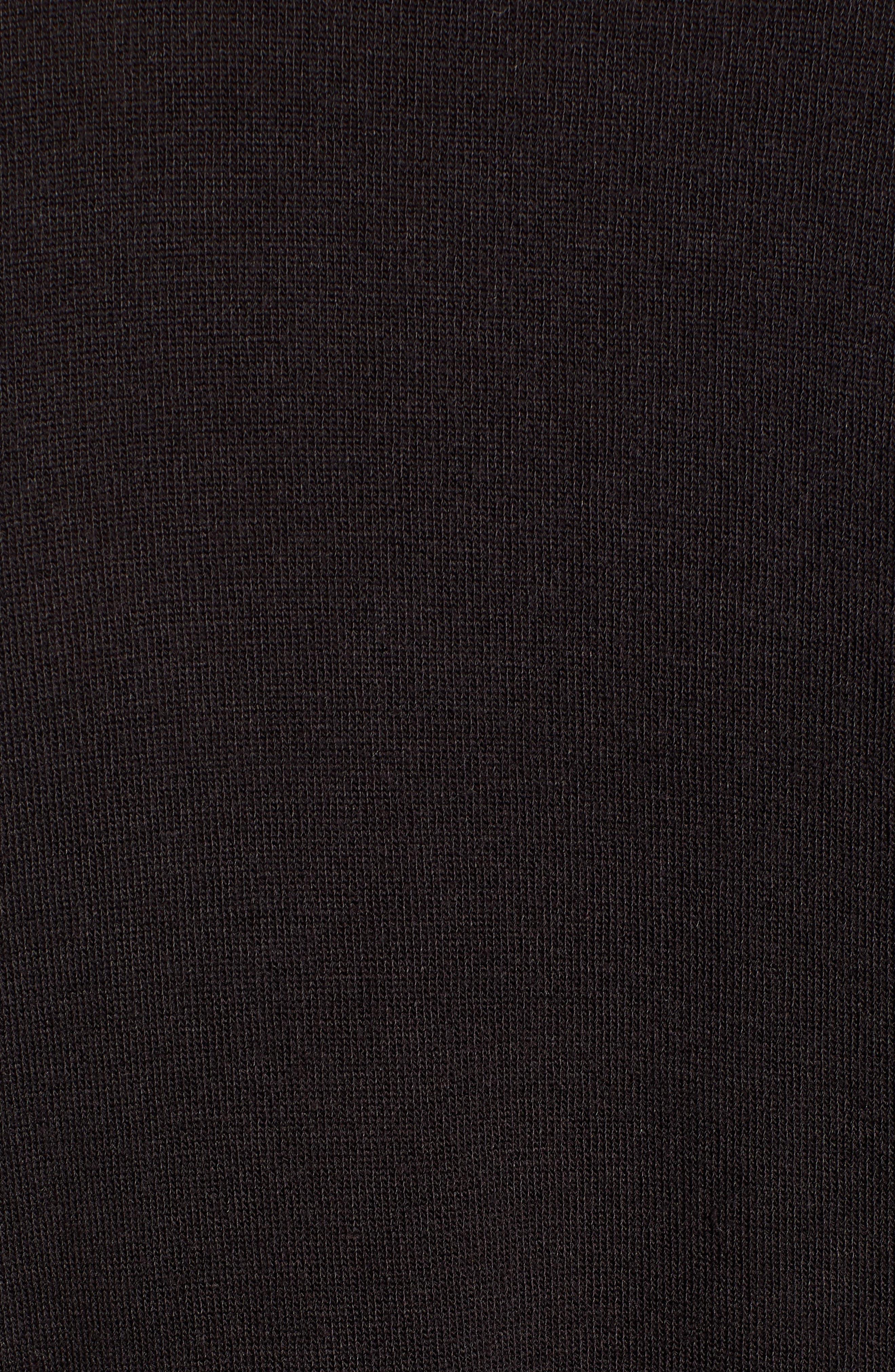 PROJECT SOCIAL T,                             Smoky Mock Neck Tee,                             Alternate thumbnail 5, color,                             BLACK