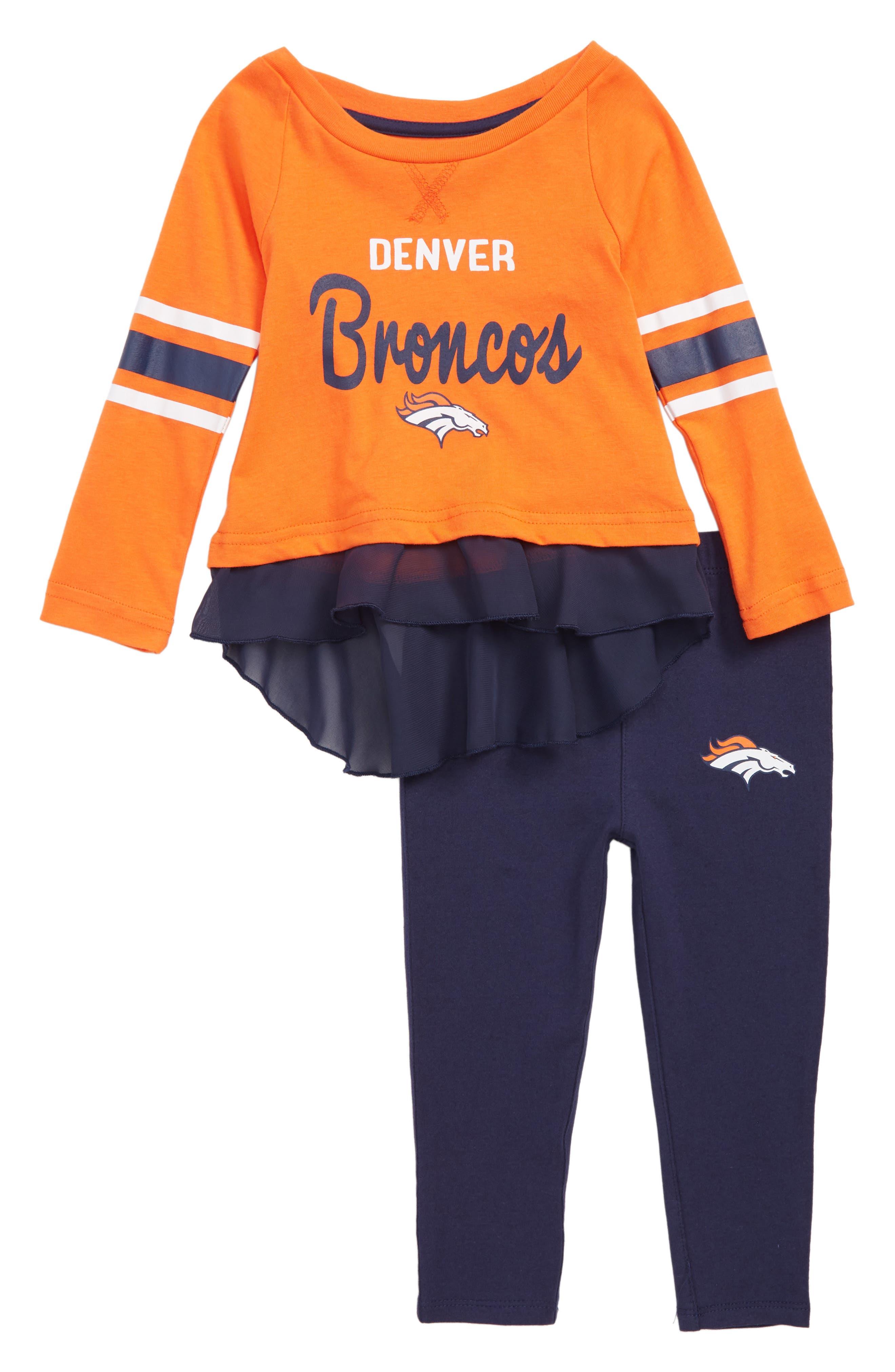 NFL Team Logo Top & Leggings Set,                         Main,                         color, DENVER ORANGE