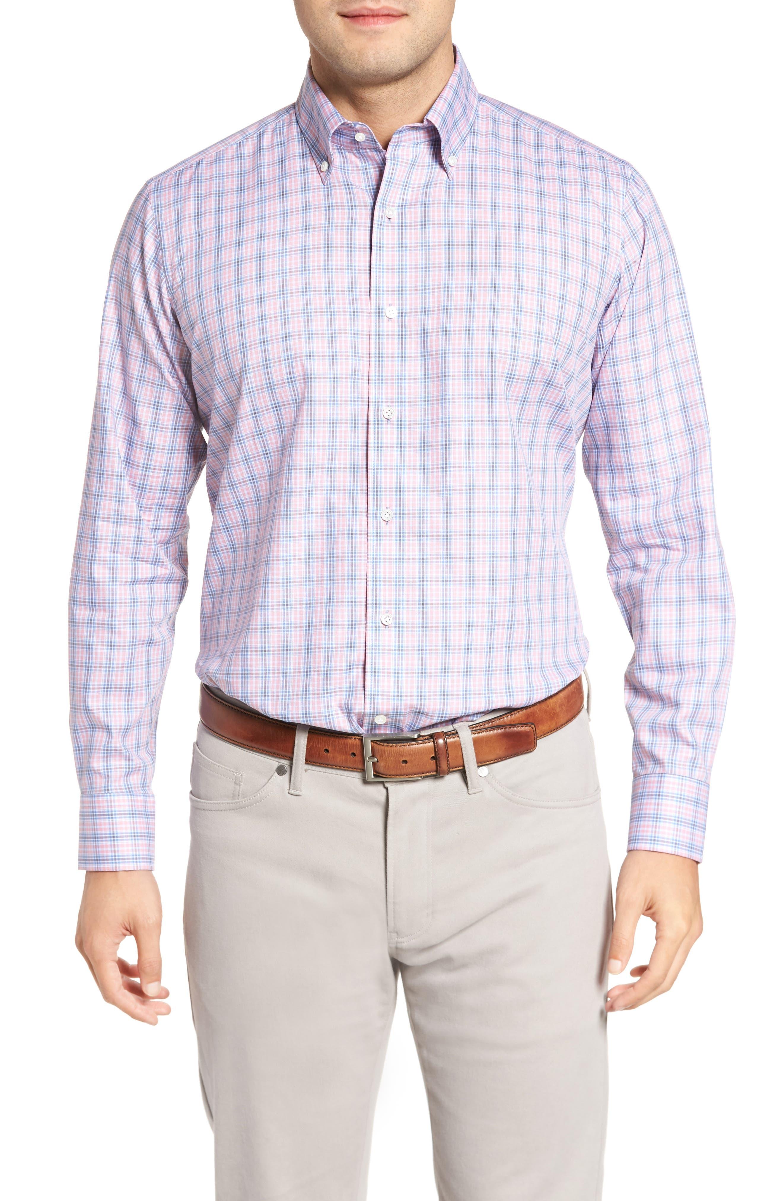 Peter Millar Desert Check Regular Fit Sport Shirt,                         Main,                         color, 617