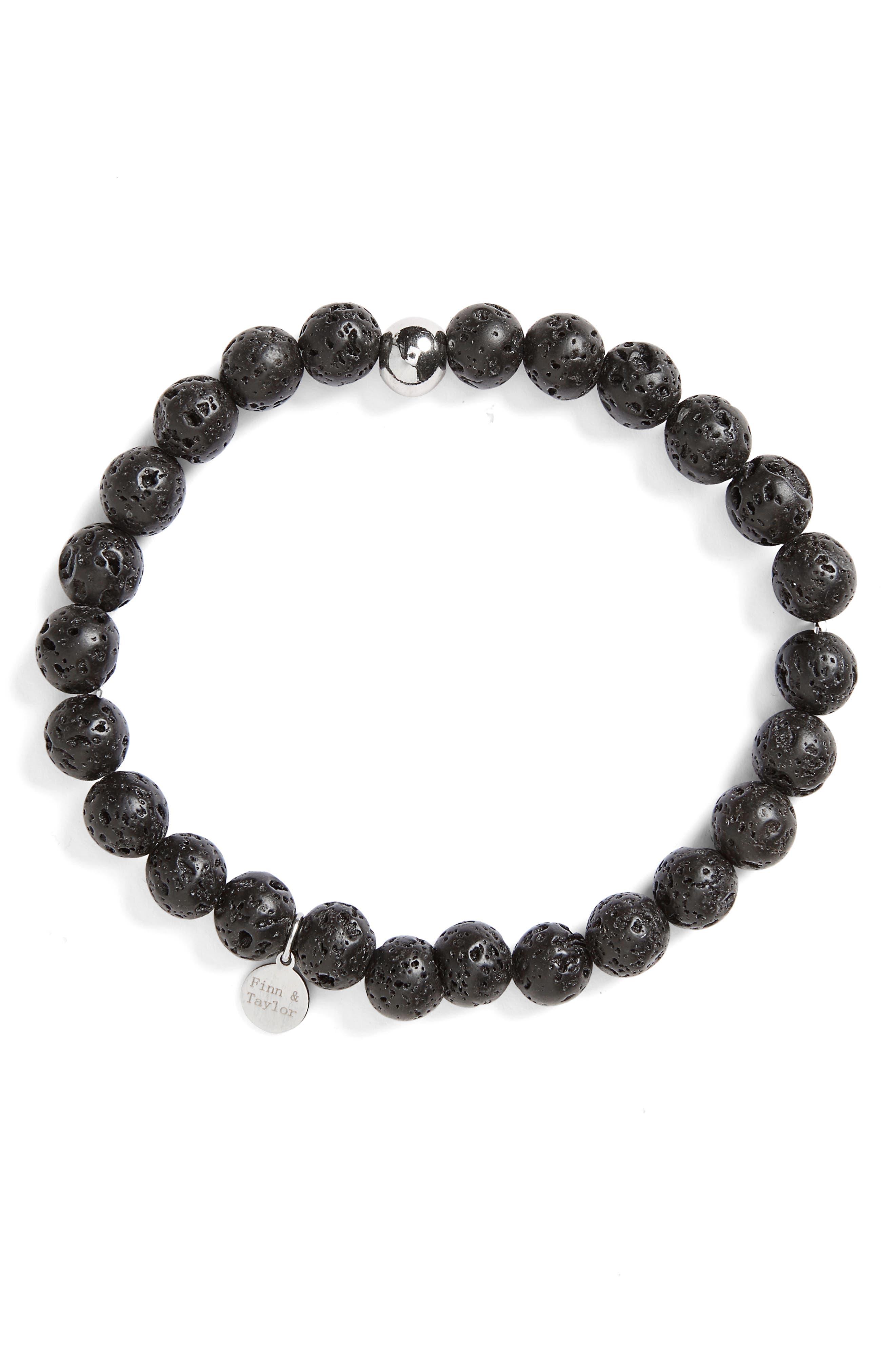 Lava Stone Bracelet,                             Main thumbnail 1, color,                             001