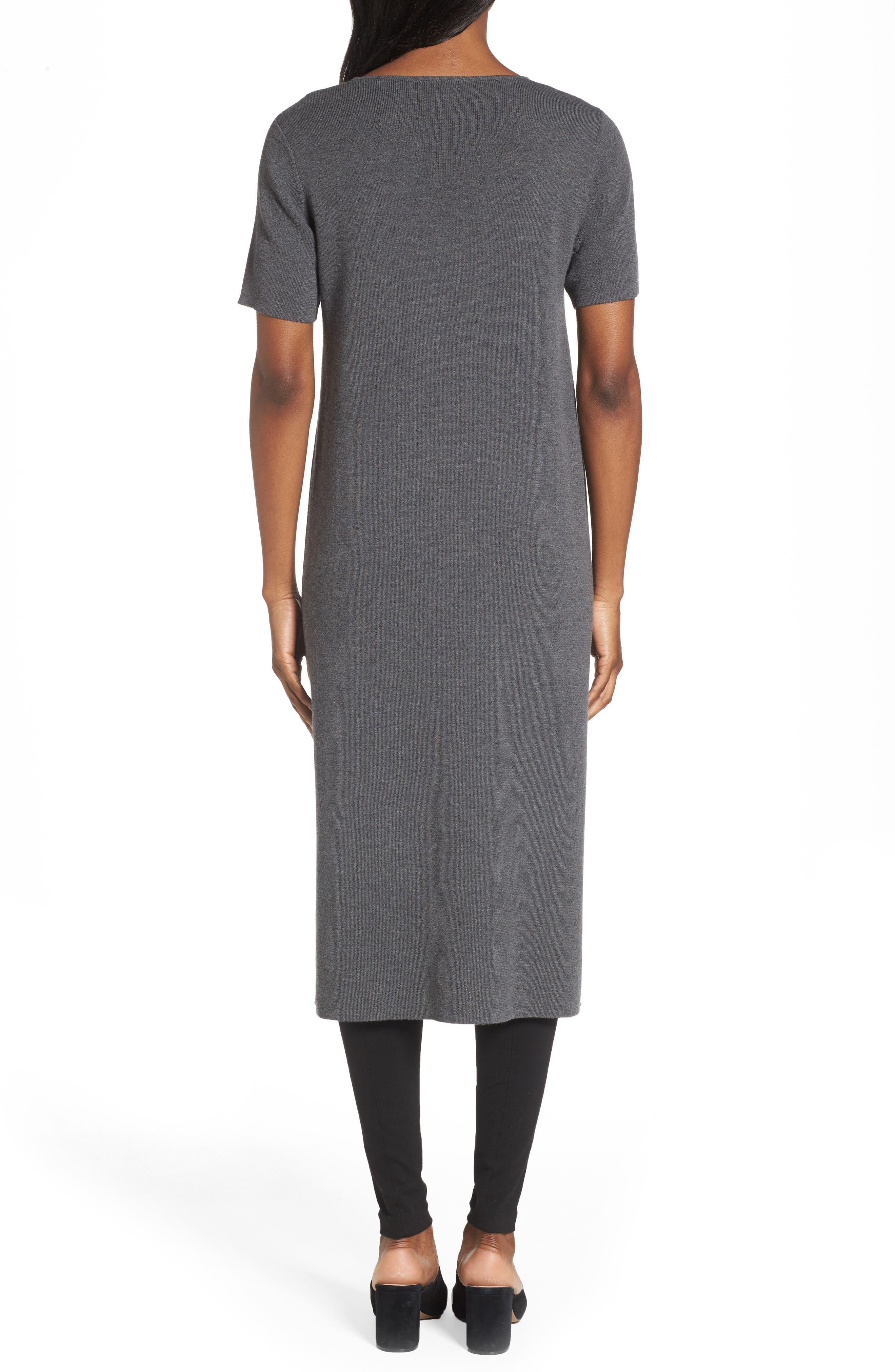 Long Wool Knit Tunic,                             Alternate thumbnail 4, color,