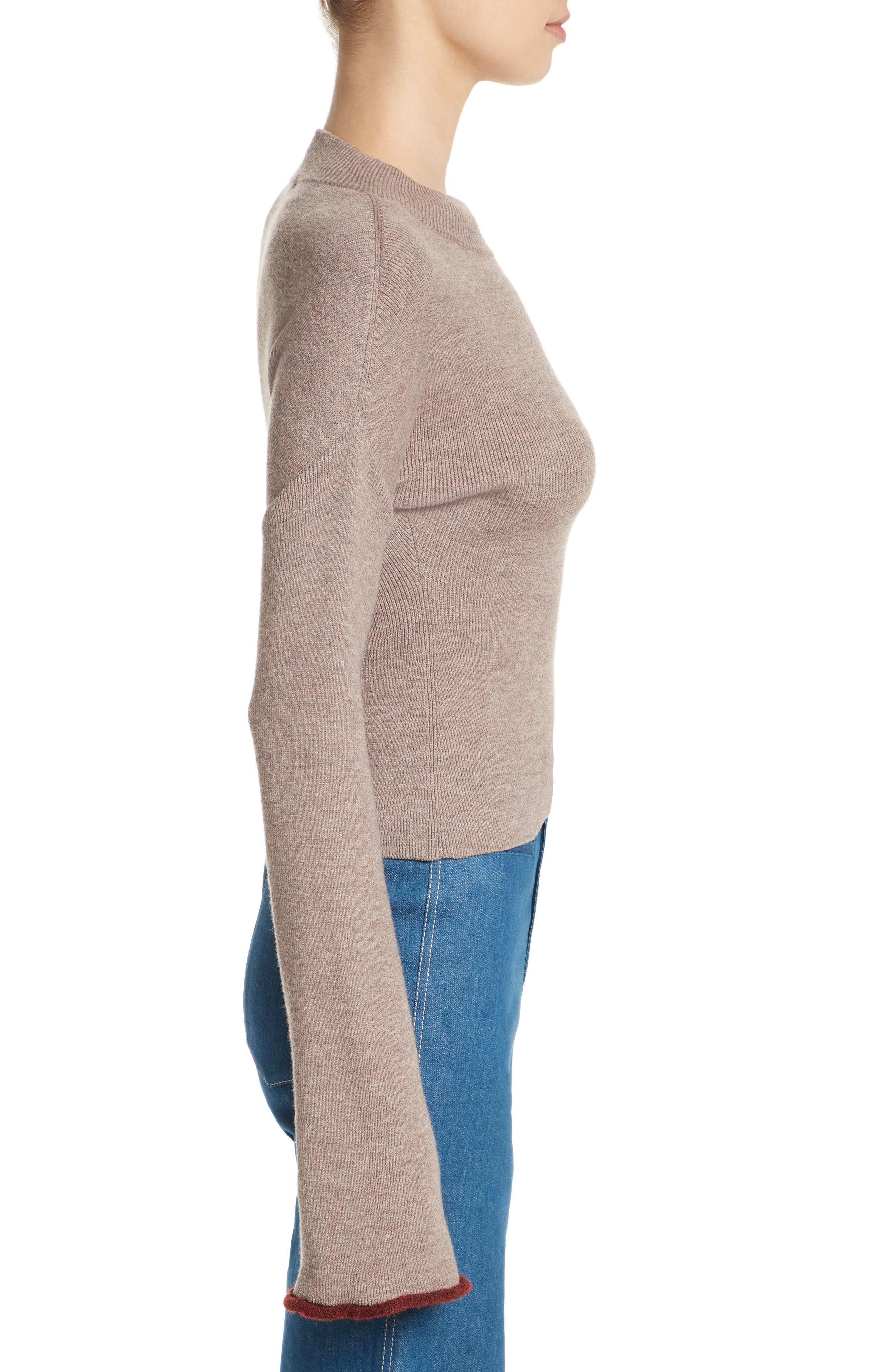 Mock Neck Sweater,                             Alternate thumbnail 3, color,                             260